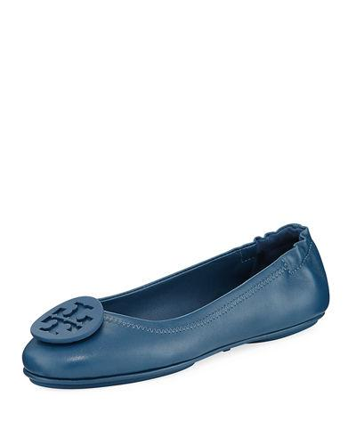 df8ac6d36f4 Tory Burch Minnie Travel Logo Ballerina Flat In Jelly Blue | ModeSens