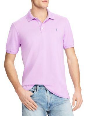 Polo Ralph Lauren Short Sleeve Logo Cotton Polo In Purple