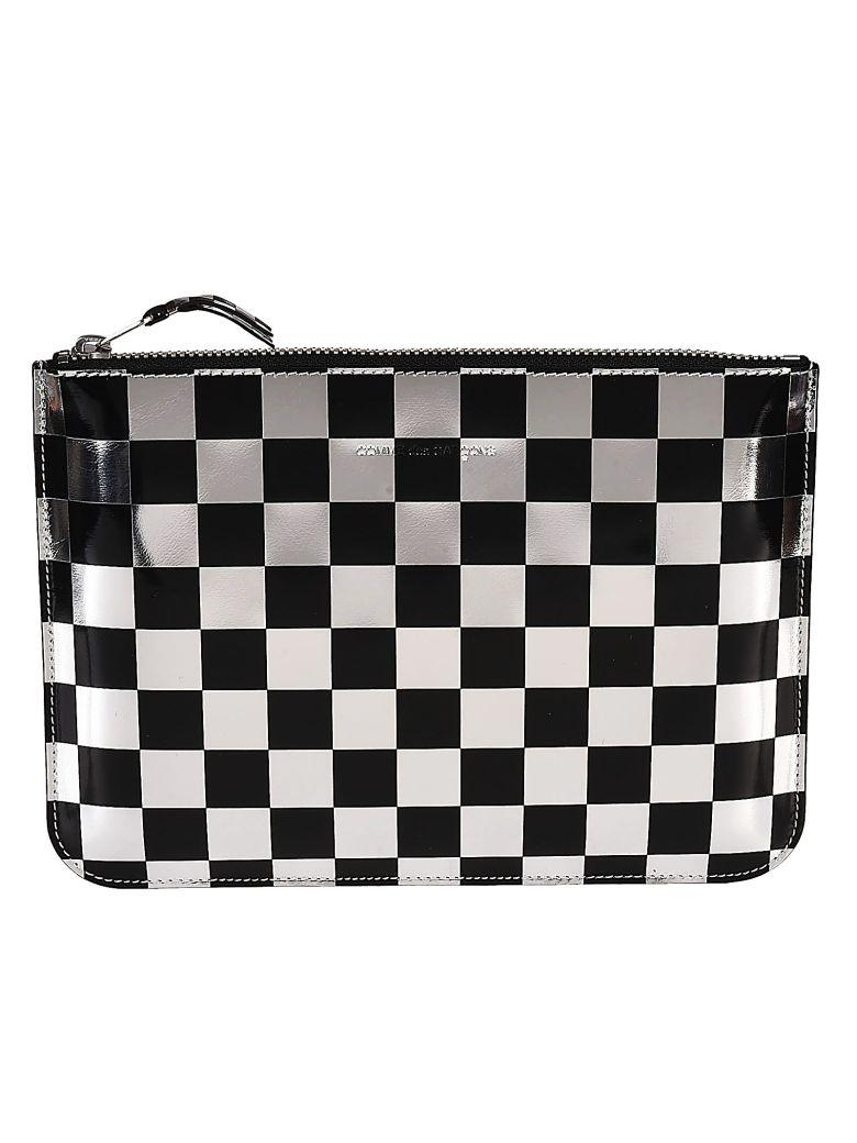Comme Des GarÇons Checked Clutch In Basic
