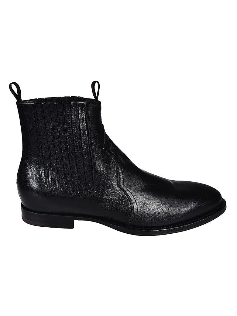 Buttero Leather Boots In Nero