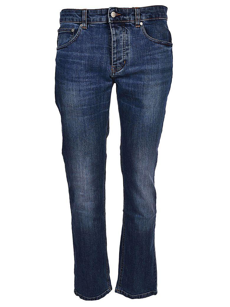 Ami Alexandre Mattiussi Slim Fit Jeans In Used Blue