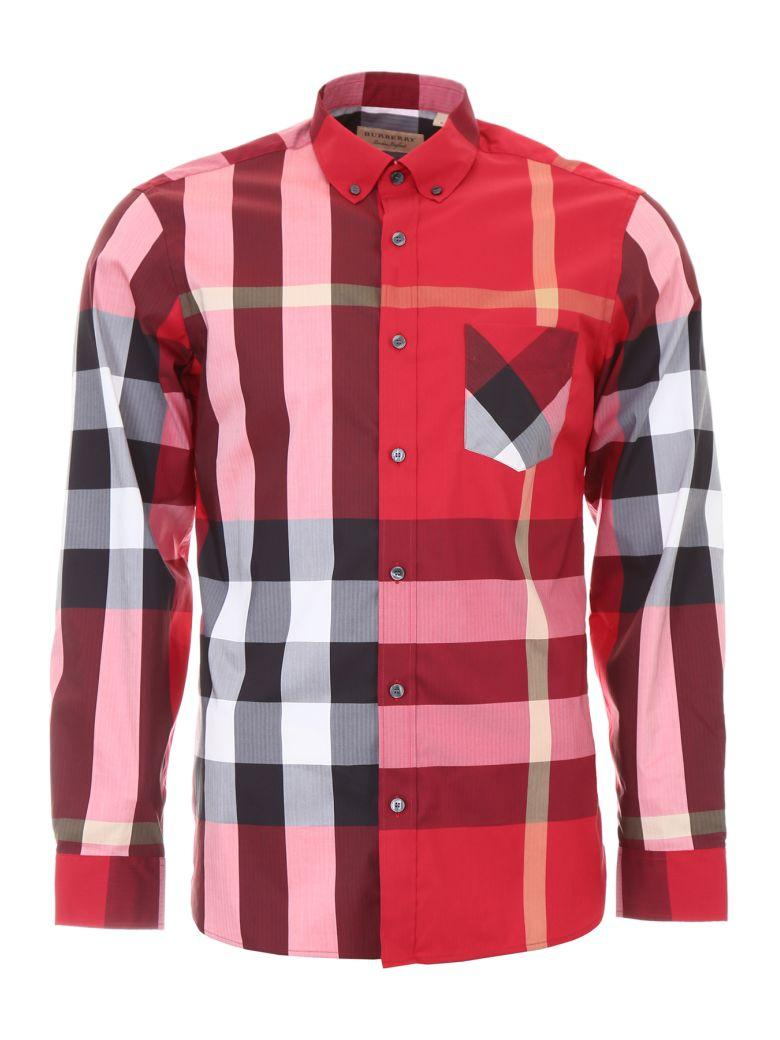 Burberry Thornaby Shirt In Parade Redrosso