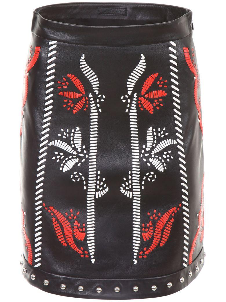 Drome Embroidered Leather Skirt In Skirt Ricamatanero