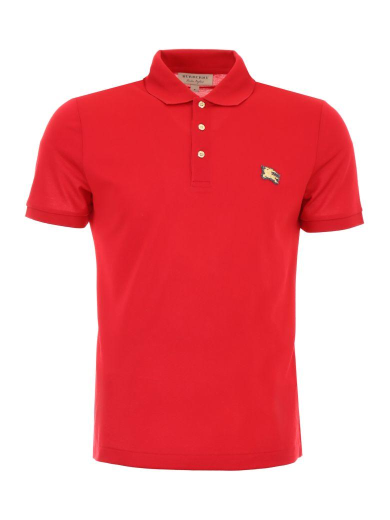Burberry Talsworth Polo Shirt In Military Redrosso