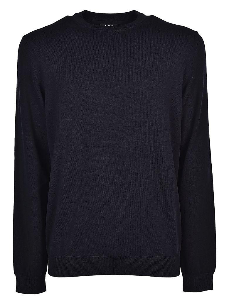A.p.c. A.p.c Plain Sweatshirt In Faux Noir