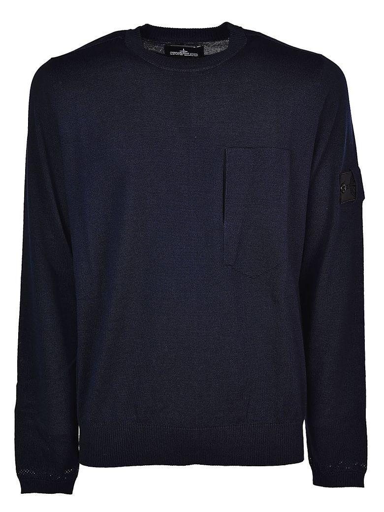 Stone Island Crew Neck Sweatshirt In Blu