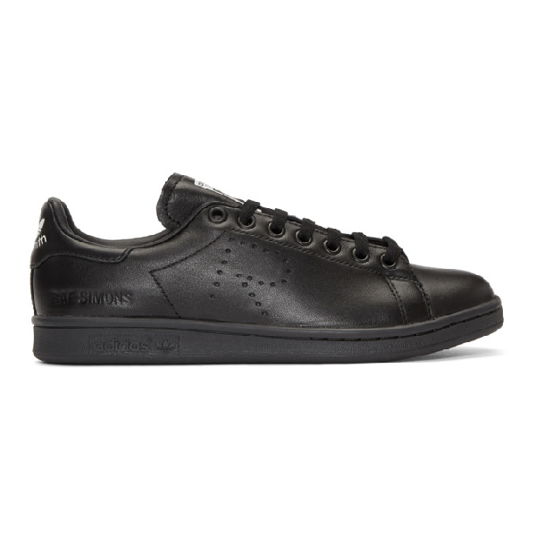 Raf Simons Adidas Originals Stan Smith Leather Sneakers In 00099 Black