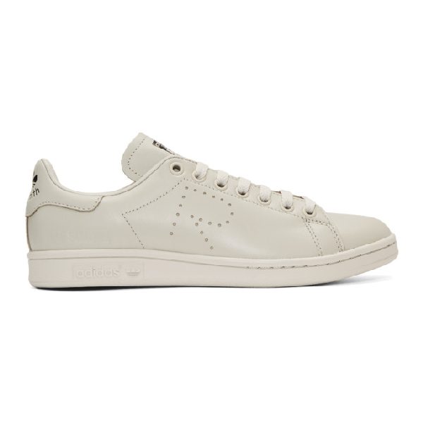 Raf Simons Adidas Originals Stan Smith Leather Sneakers In 00081 Lgrey