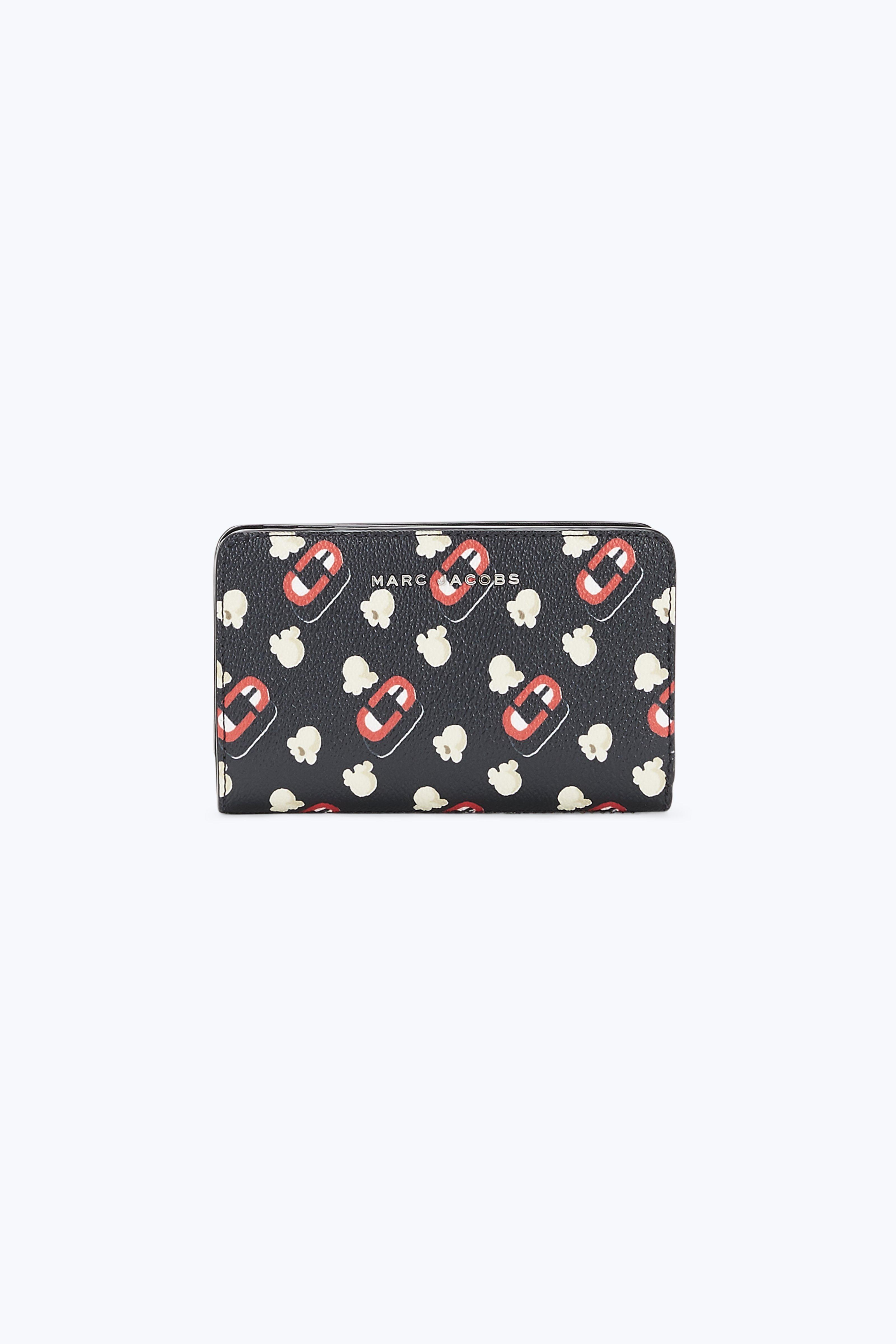 Marc Jacobs Popcorn Scream Compact Wallet In Black Multi