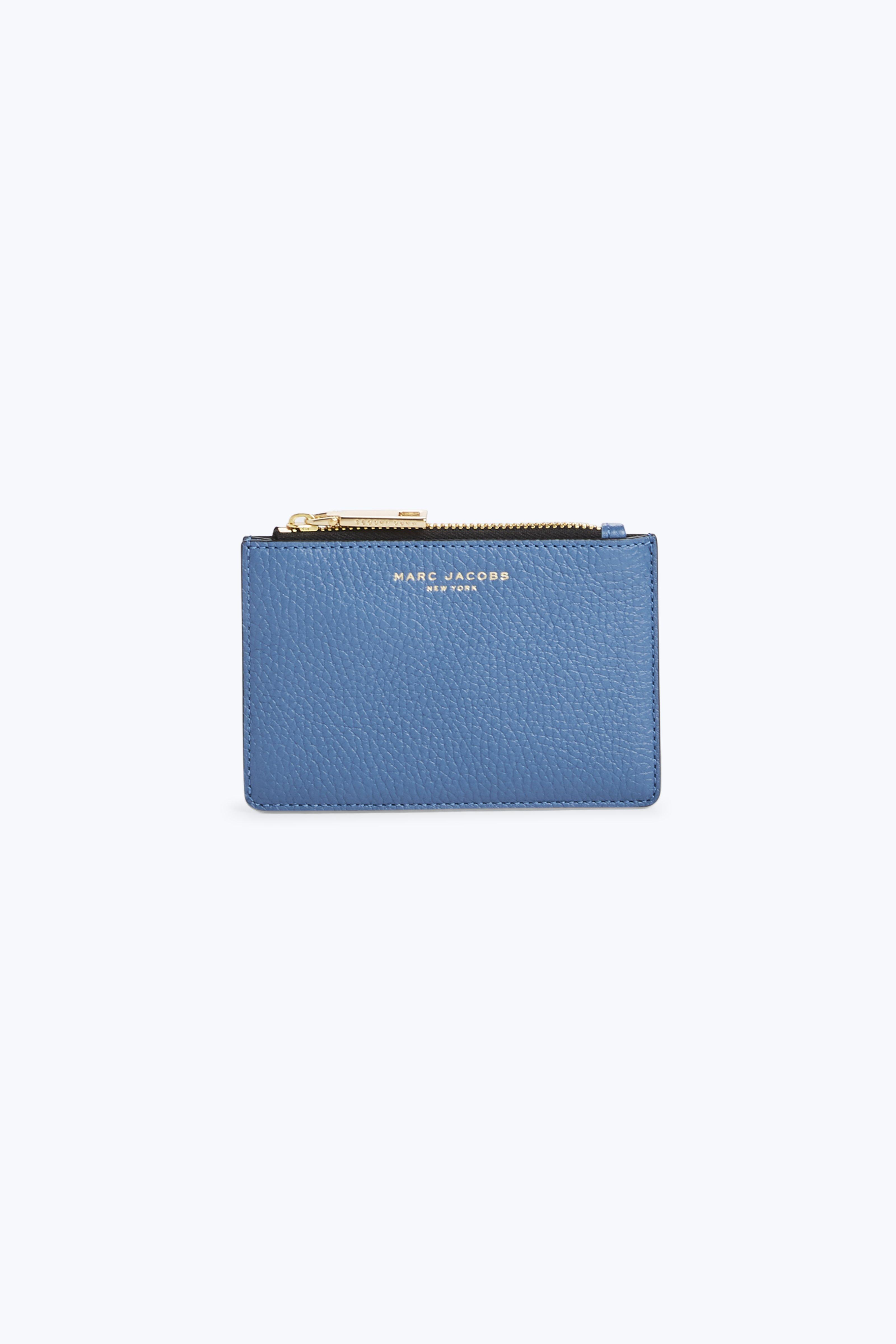Marc Jacobs Gotham Top Zip Multi Wallet In Vintage Blue