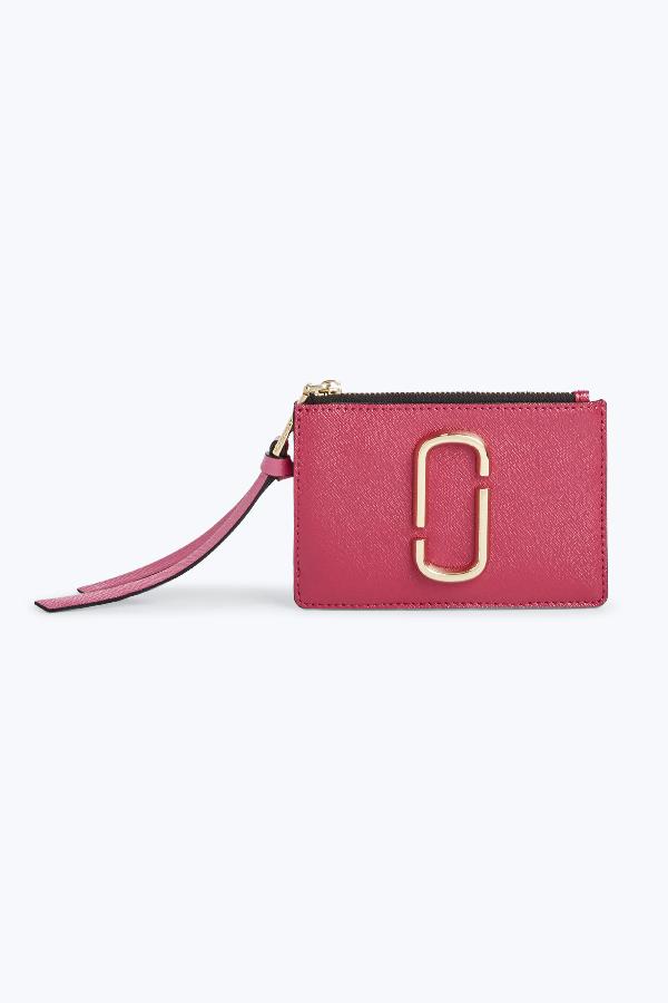 Marc Jacobs Snapshot Top Zip Multi Wallet In Hibiscus Multi