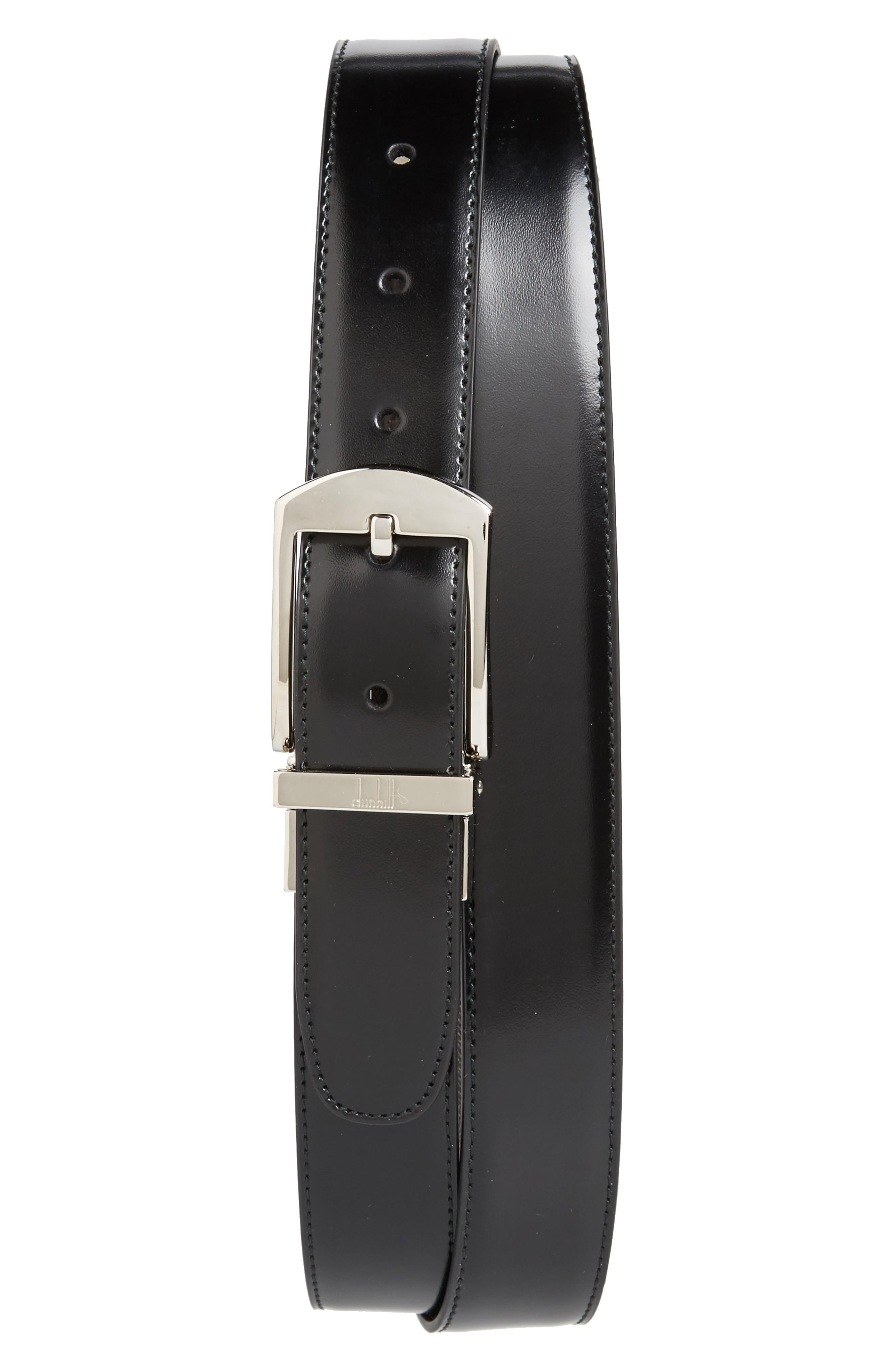 Dunhill Classic Leather Belt In Black