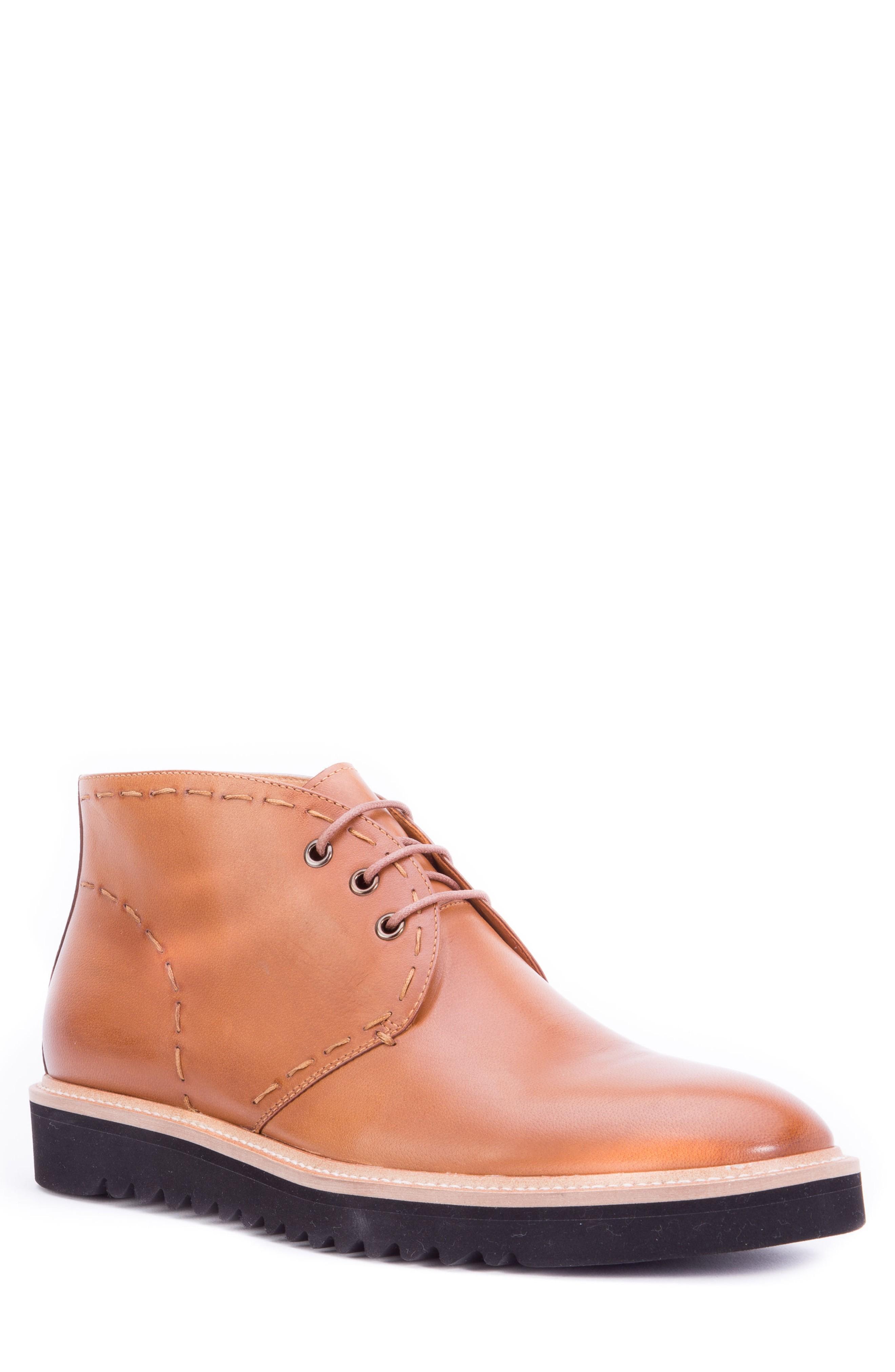 Zanzara Lombardo Chukka Boot In Cognac Leather