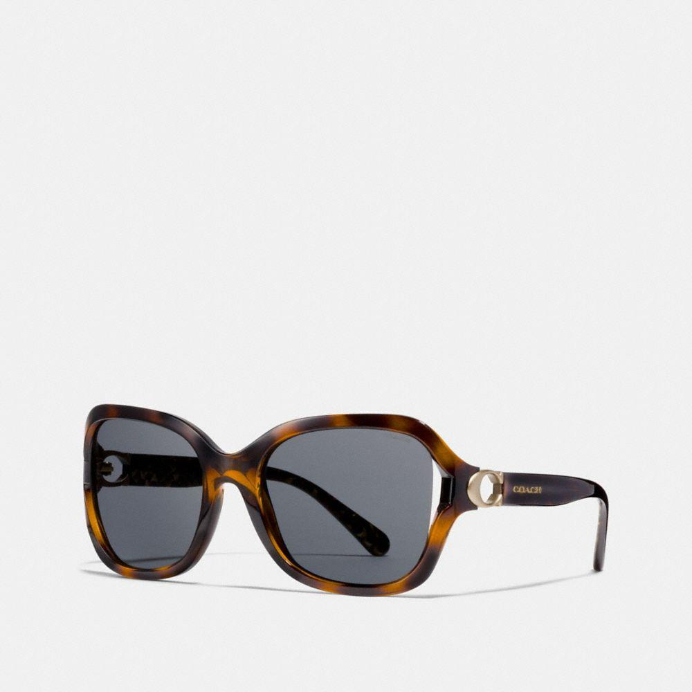 Coach Signature Hardware Sunglasses In Dark Tortoise