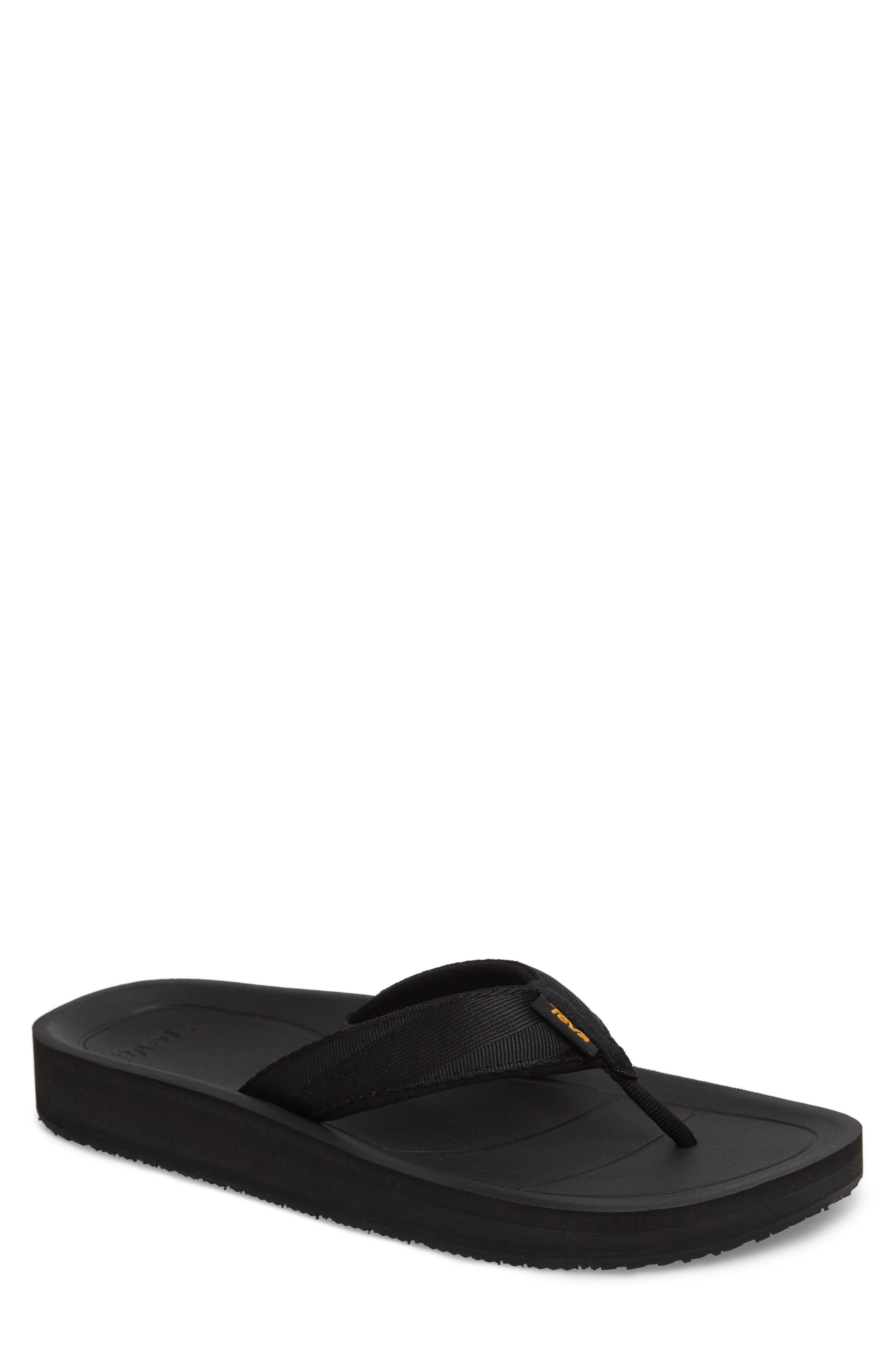 Teva Flip Premier Flip Flop In Black Nylon