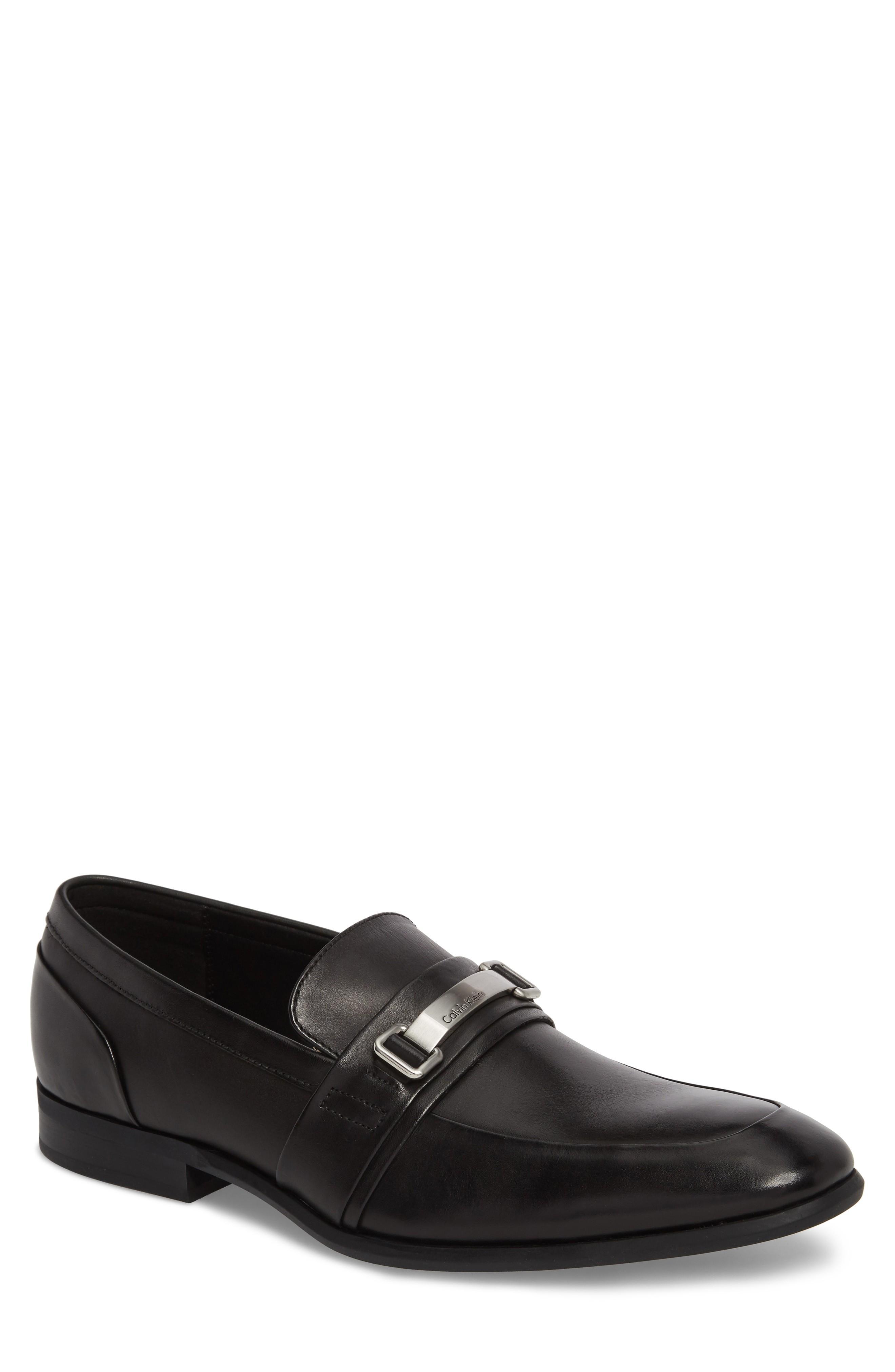 Calvin Klein Lawdon Venetian Loafer In Black Leather