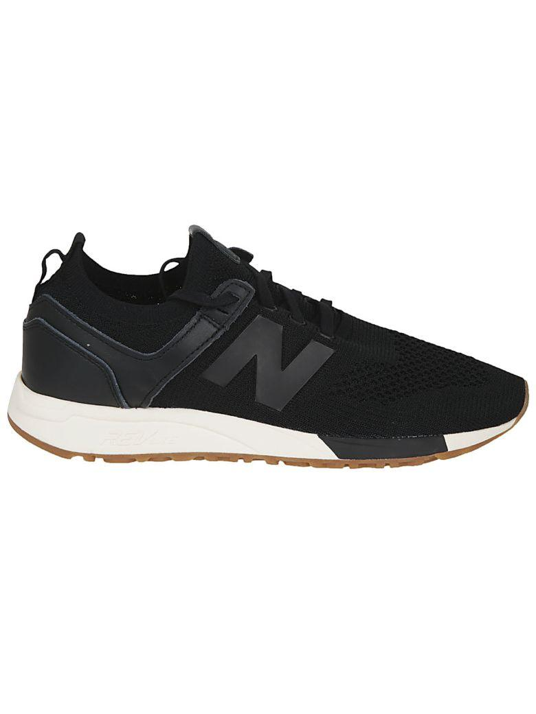 New Balance Men's Deconstructed 247 Knit Lace Up Sneakers In Black