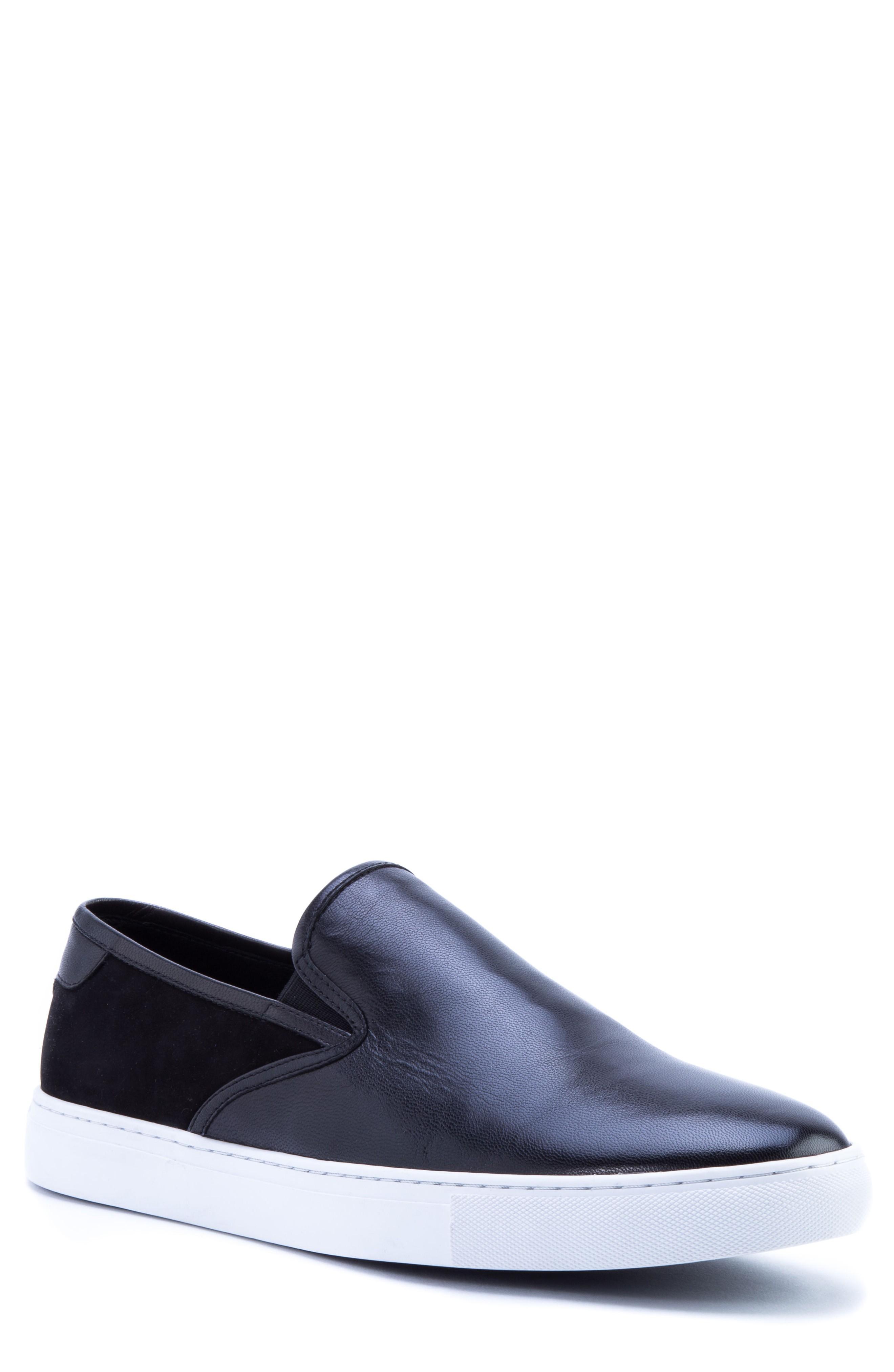 Zanzara Duchamps Slip-on Sneaker In Black Leather/ Suede