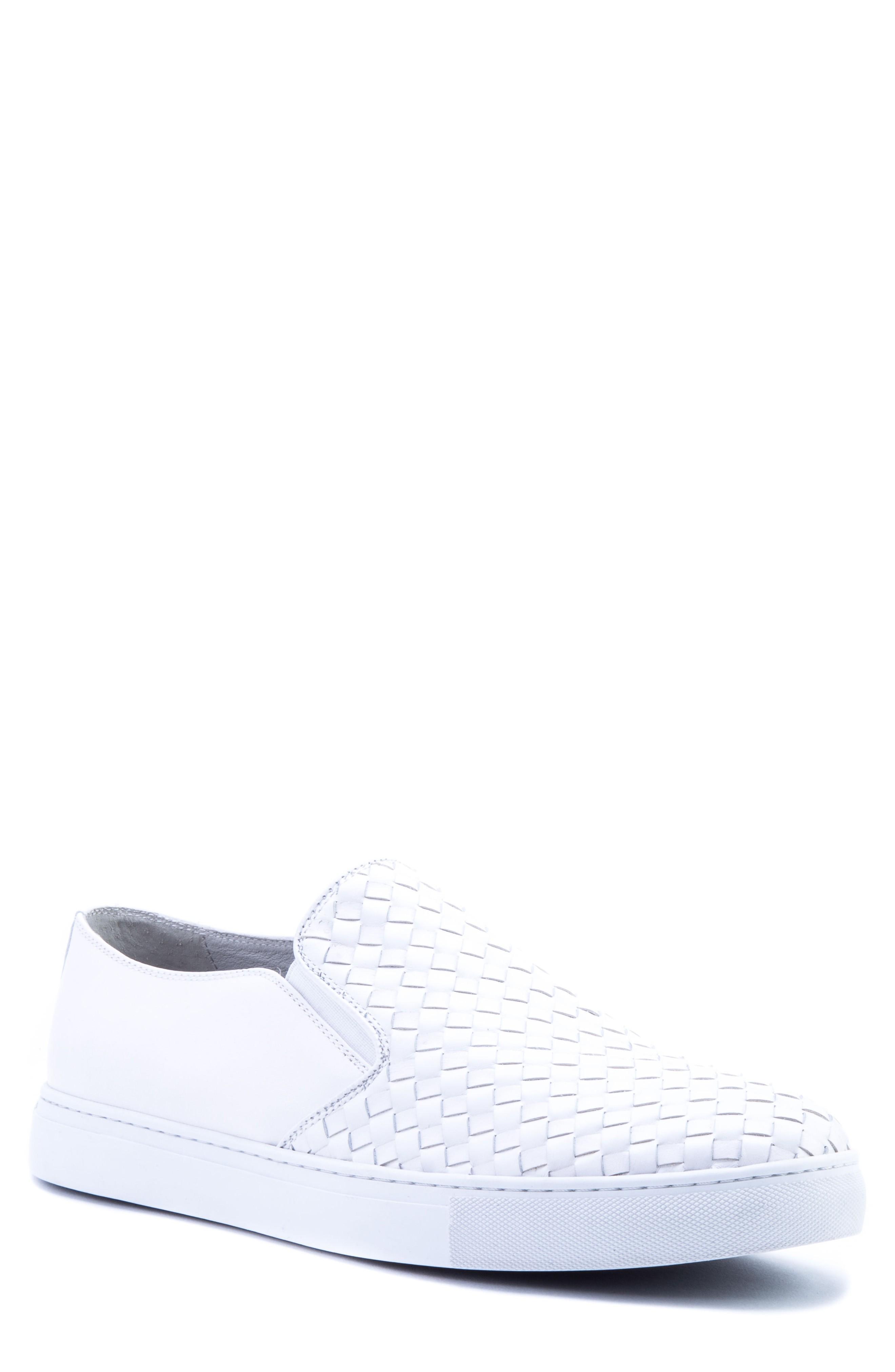 Zanzara Echo Ii Woven Slip-on Sneaker In White Leather