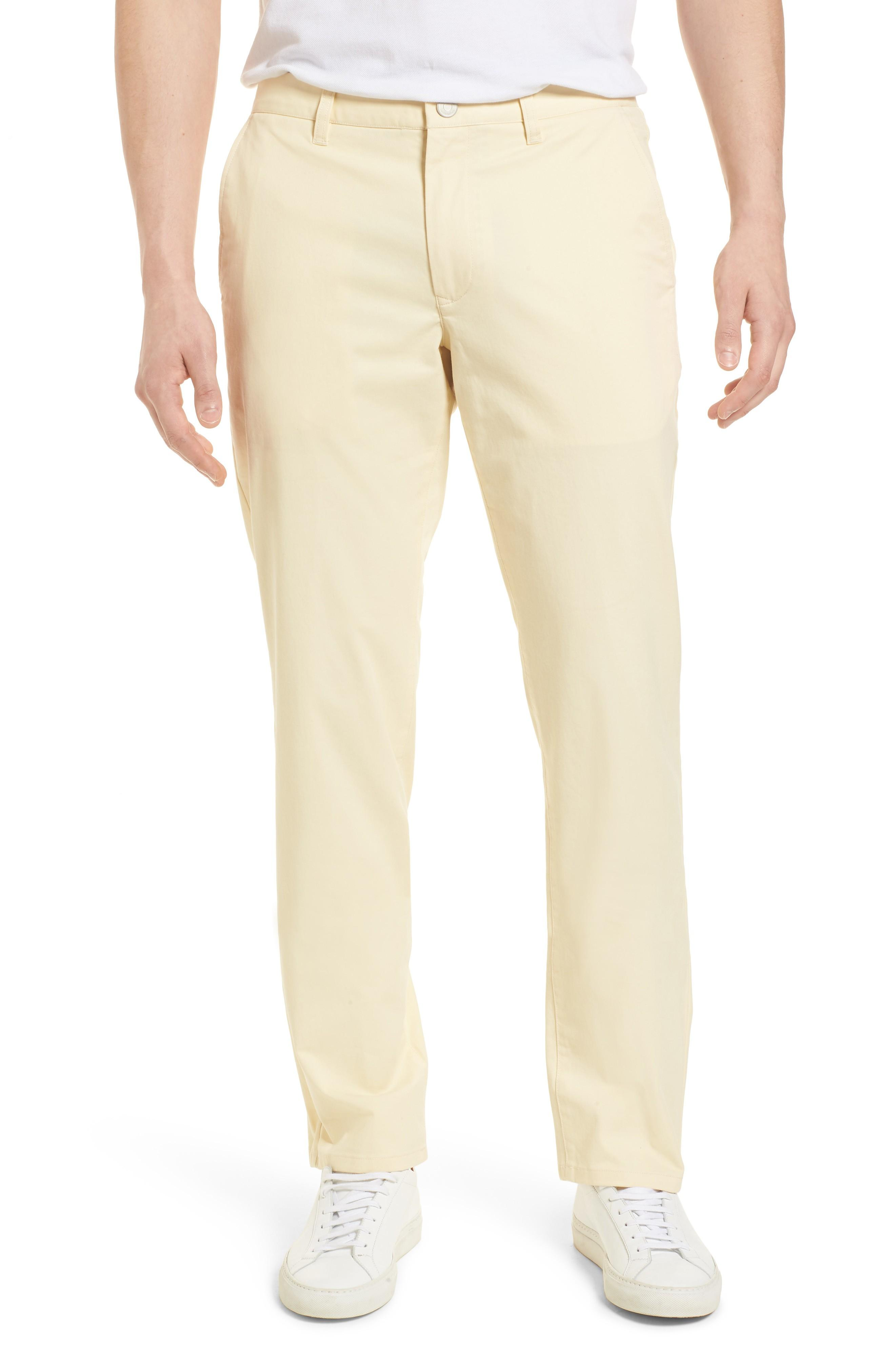 Bonobos Straight Leg Stretch Washed Chinos In Sun In Yellow
