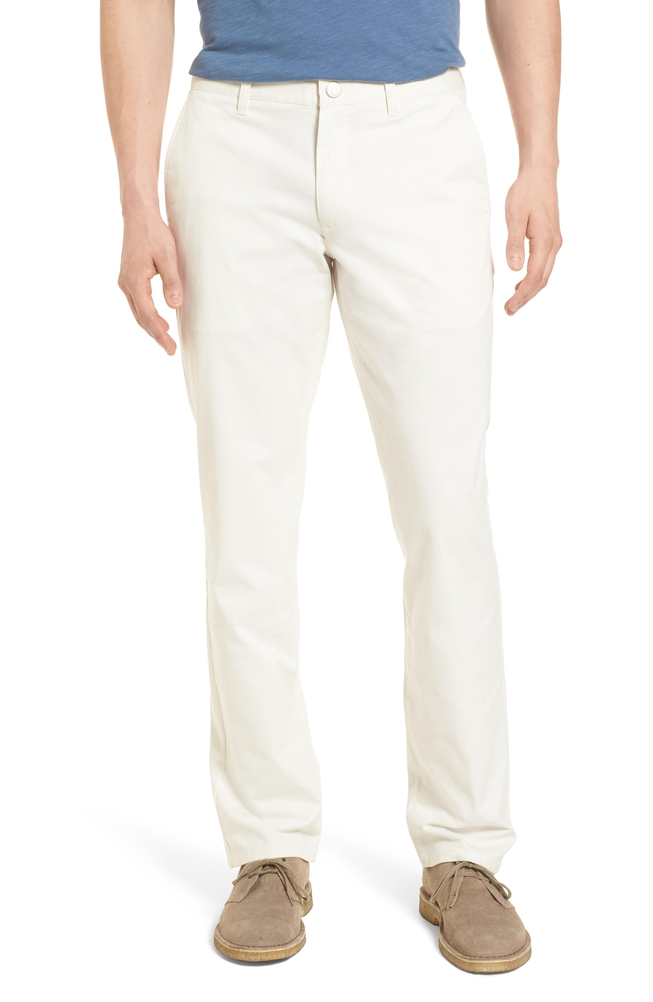 Bonobos Straight Leg Stretch Washed Chinos In Full Sail Off White