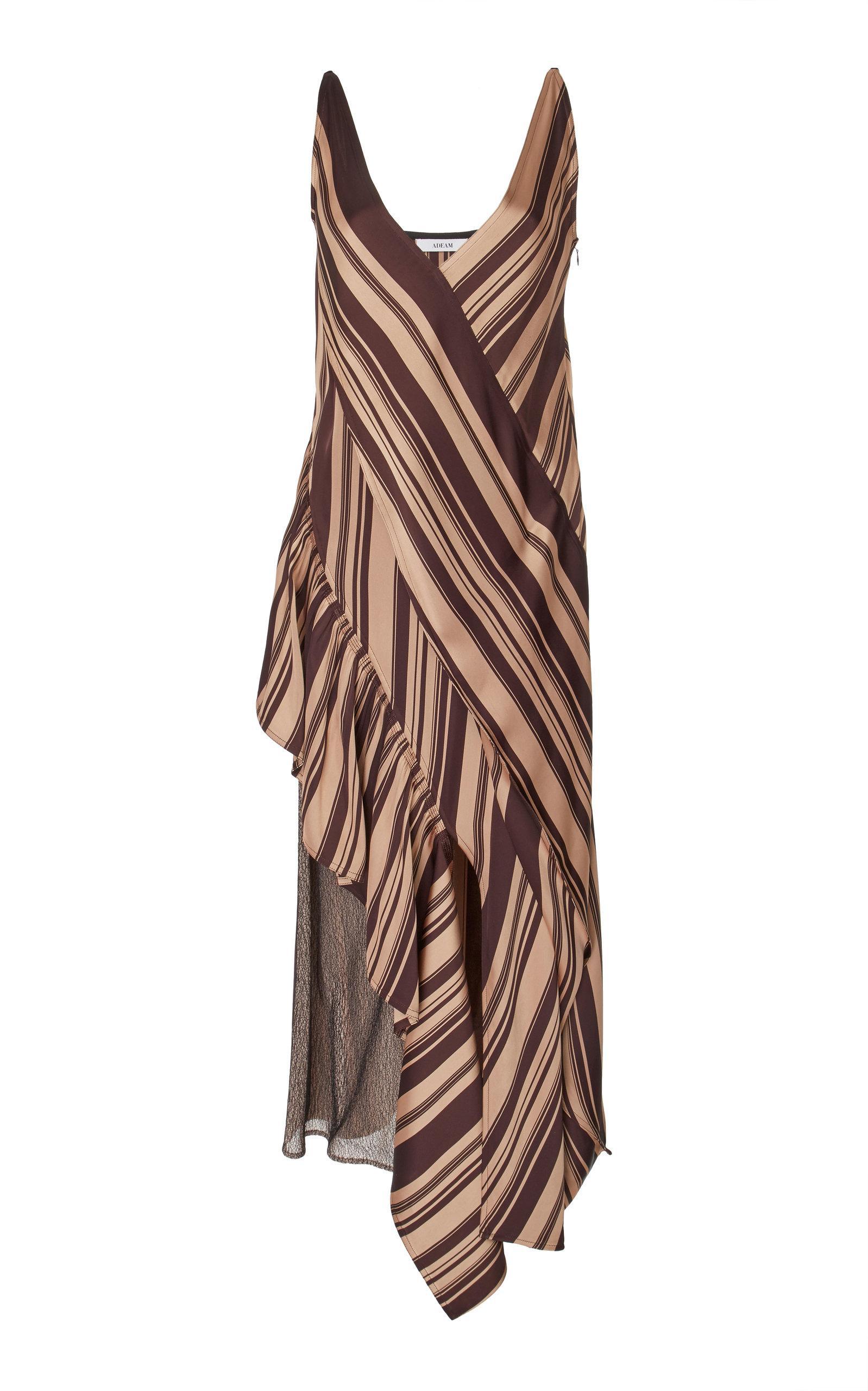 Adeam Moga Slip Dress In Burgundy