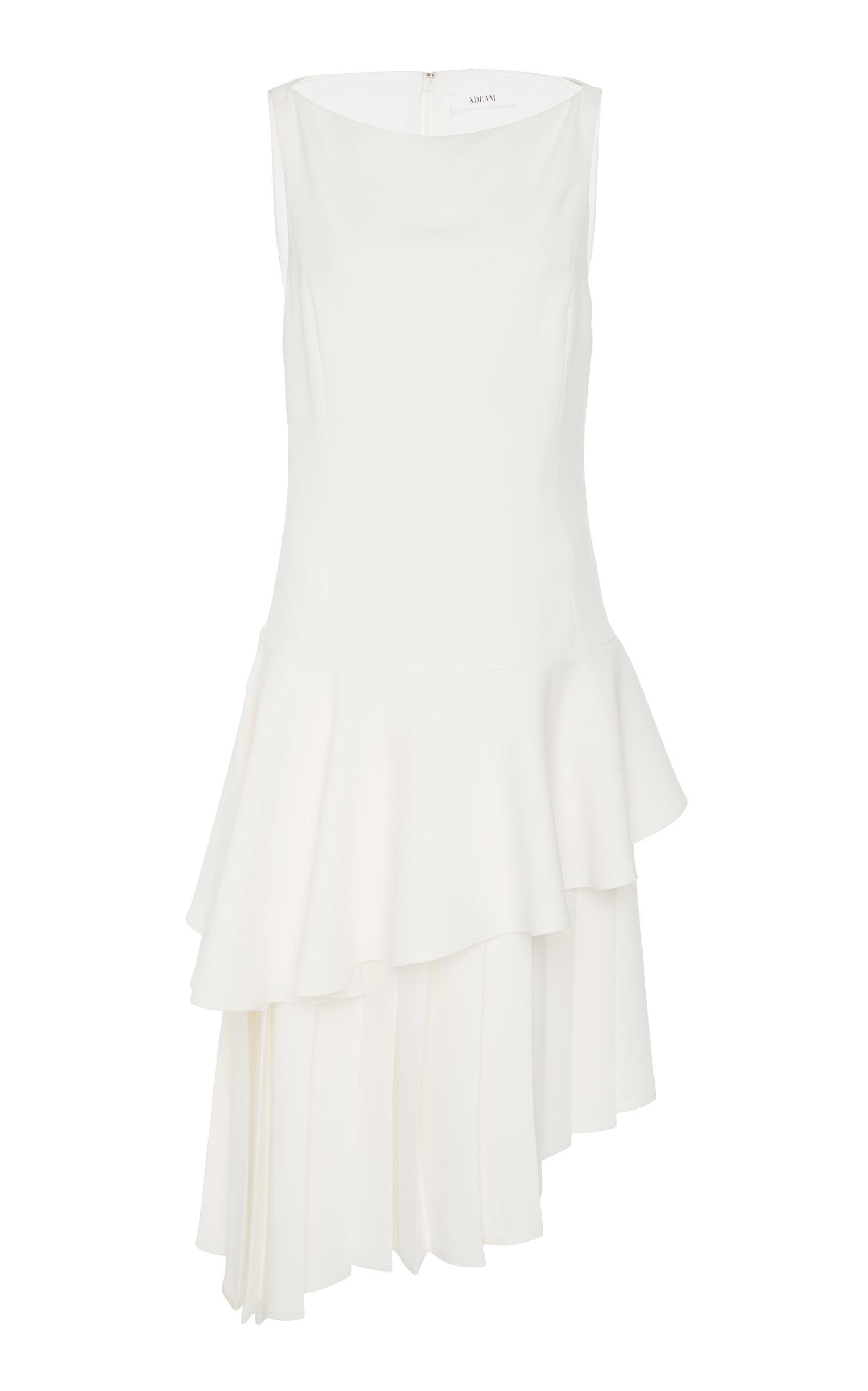 Adeam Pleated Moga Dress In White