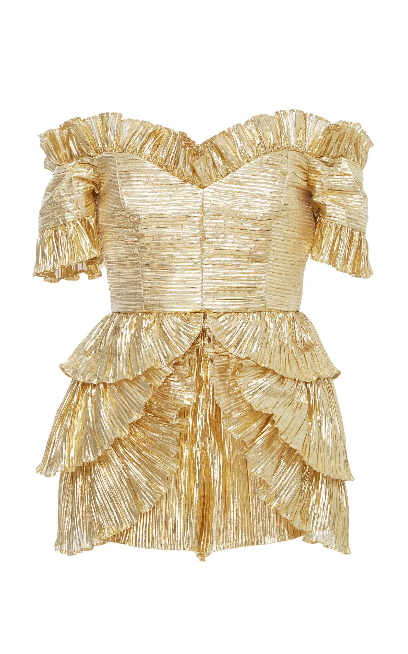 Alice Mccall Wasn't Born To Follow Playsuit In Gold