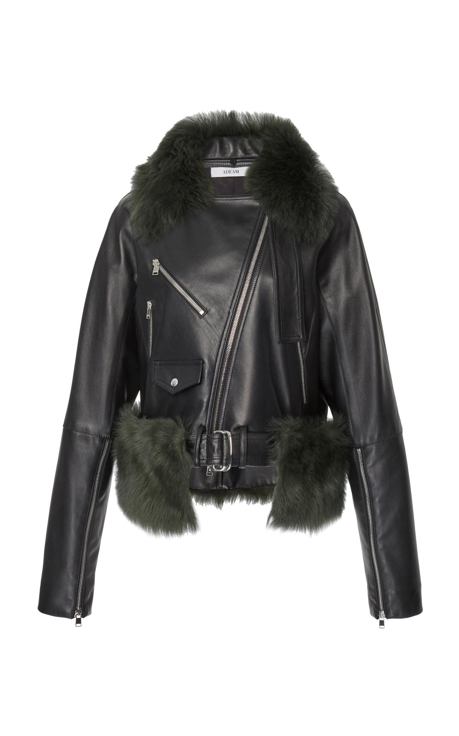 Adeam Moto Jacket In Black