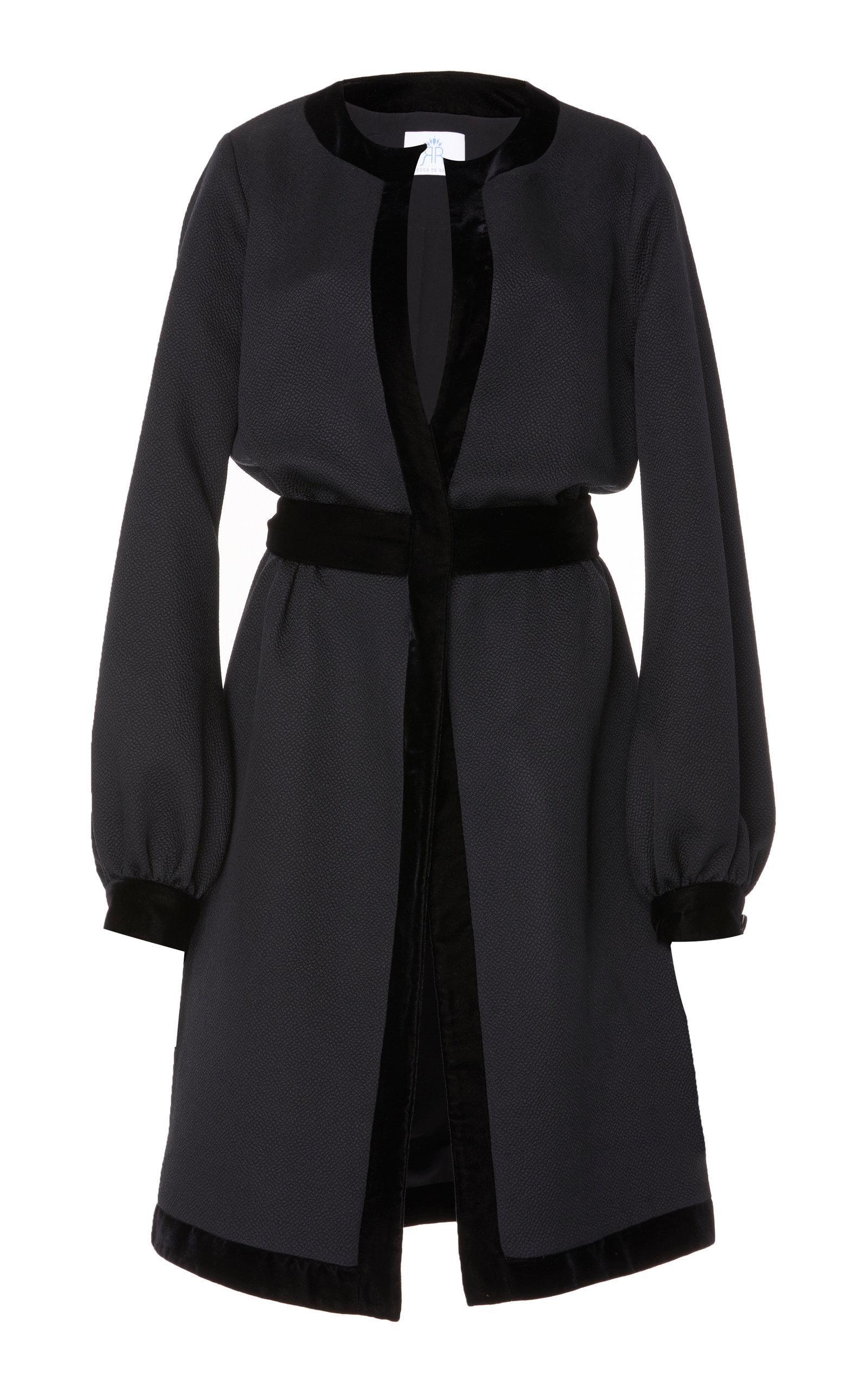 Rebecca De Ravenel Jacquard Jacket In Black