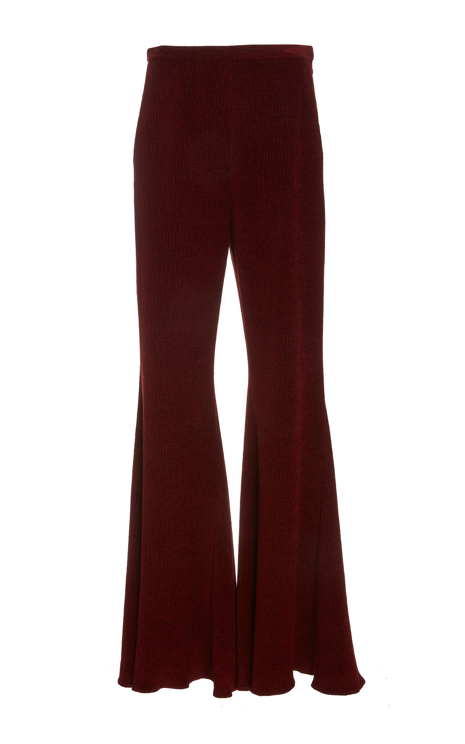 Rosetta Getty Straight Flare Trouser In Red