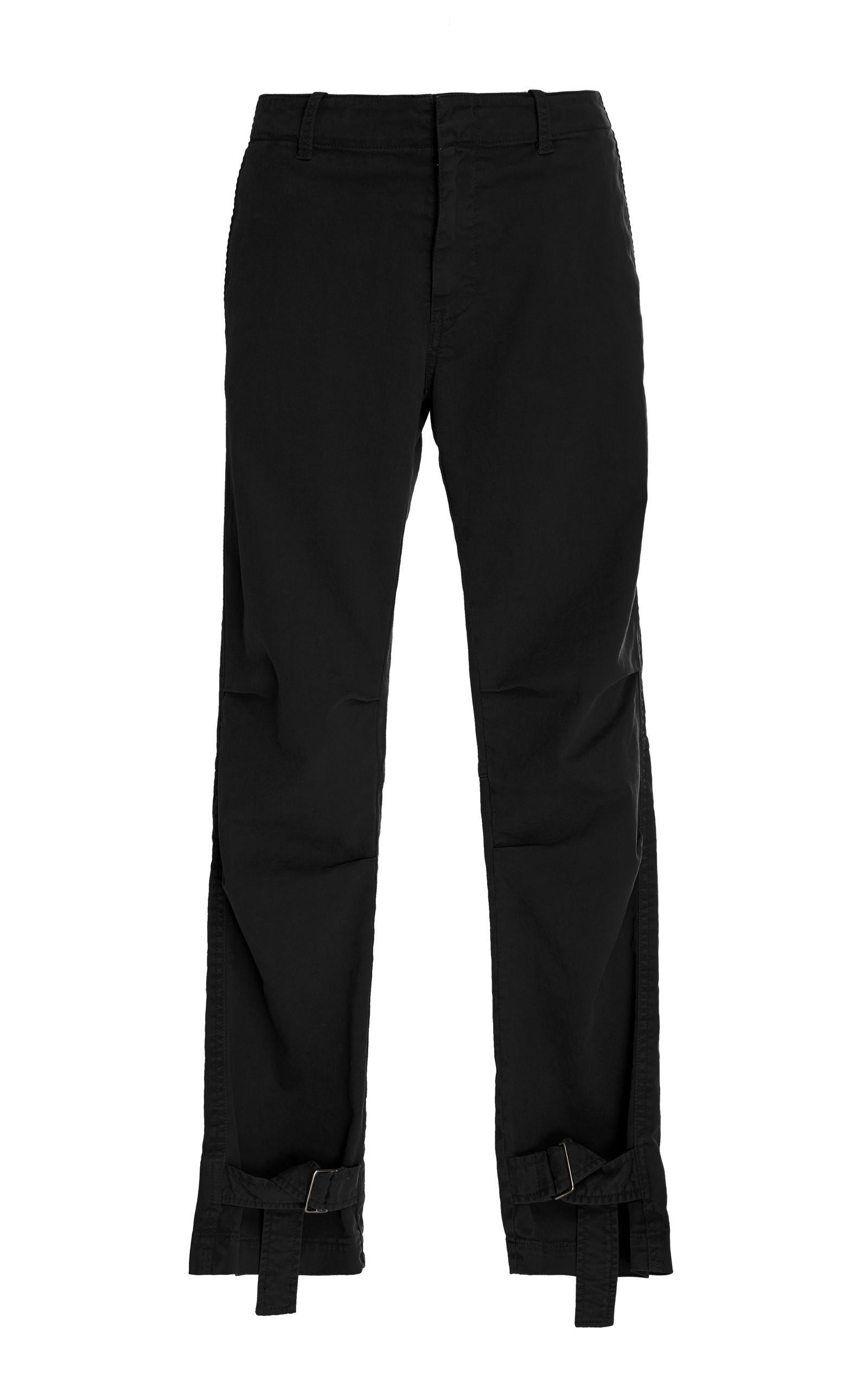 Nili Lotan Bradley Buckle Pant In Black