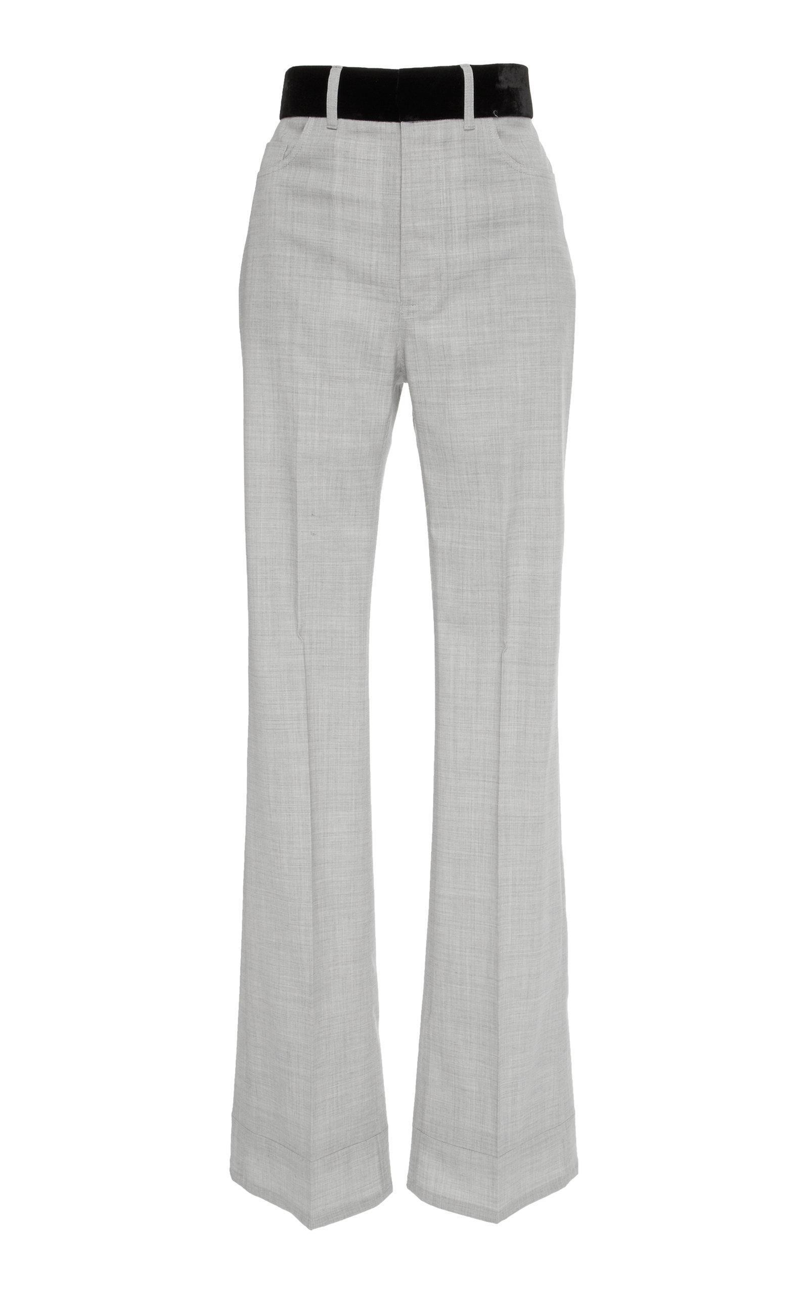 Adeam Boot Leg Pant In Grey