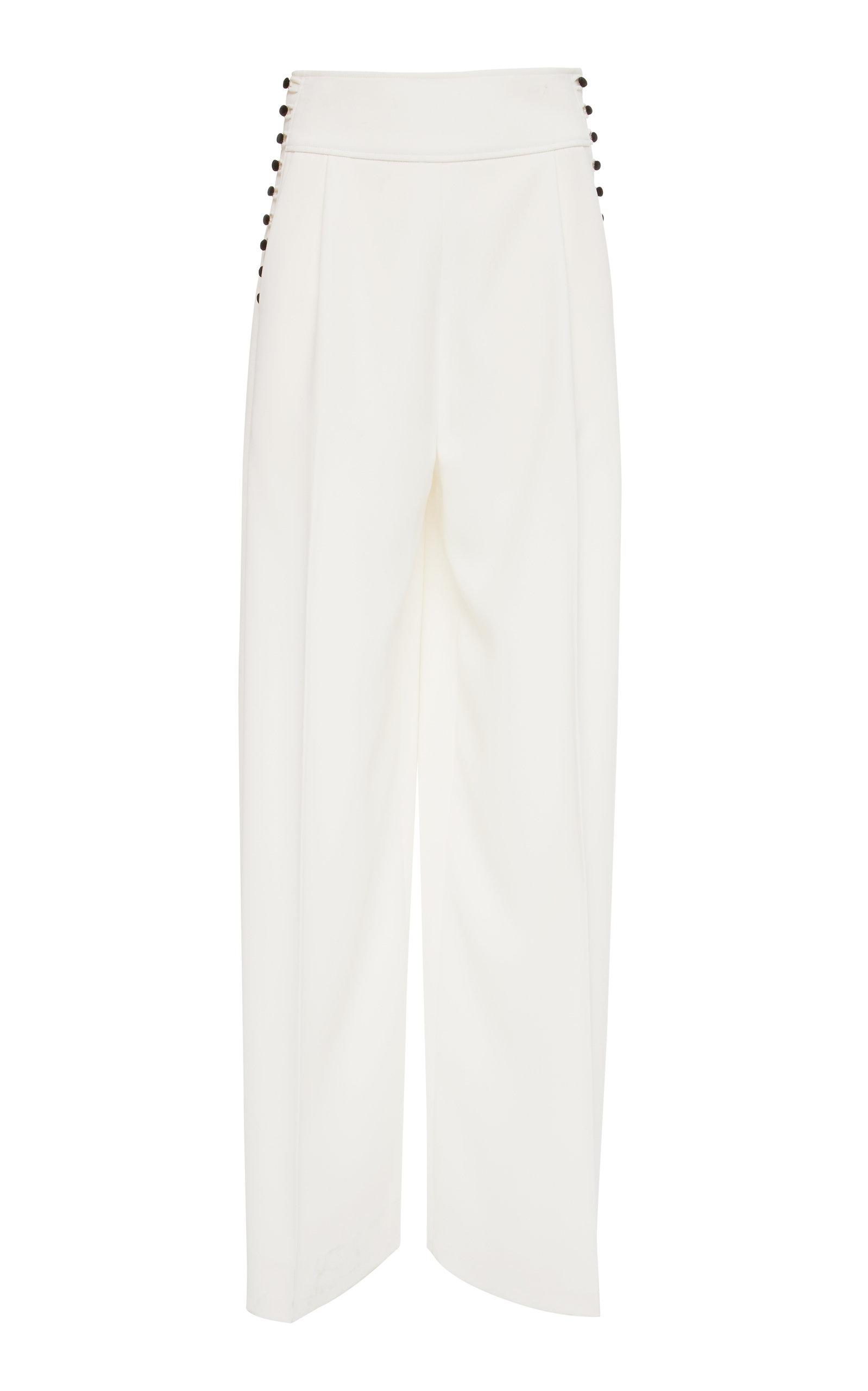 Adeam Buttoned Pant In White