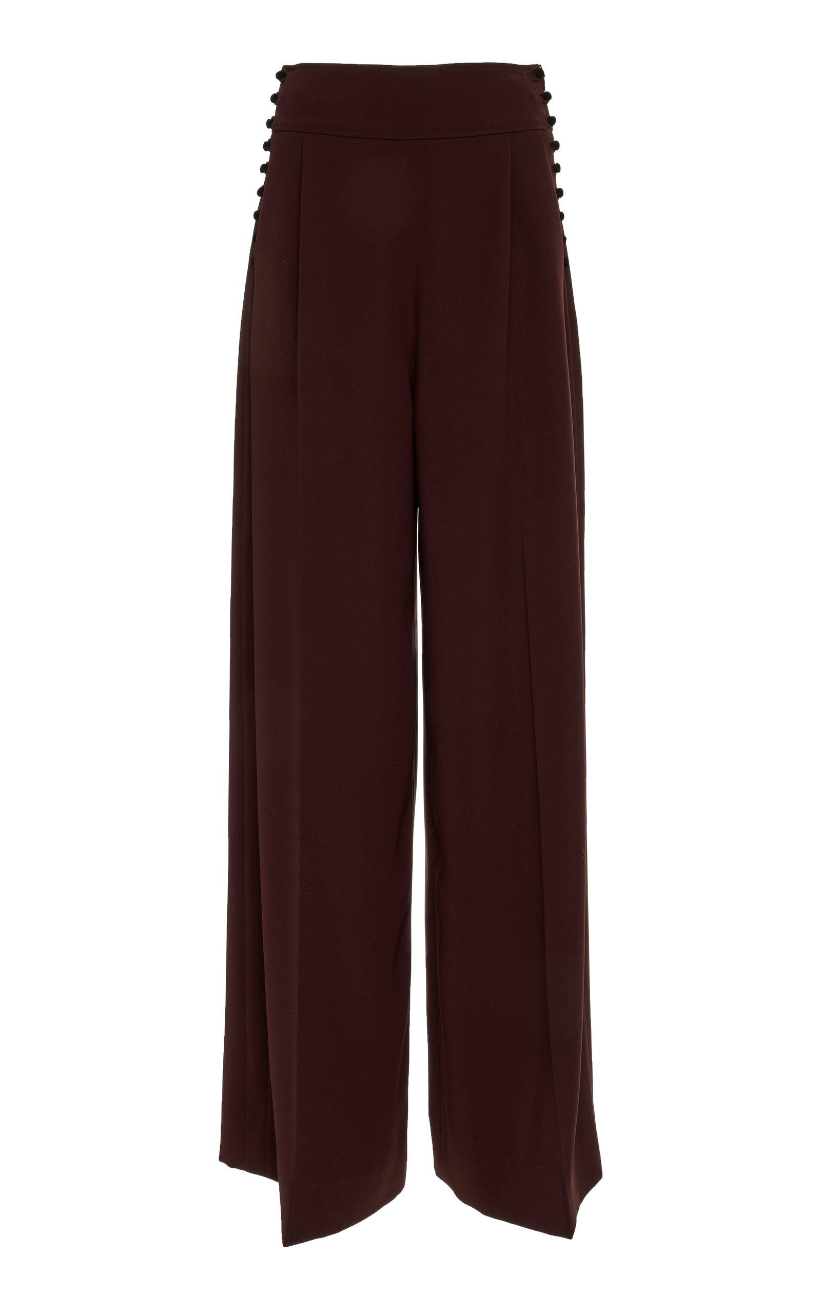 Adeam Buttoned Pant In Burgundy