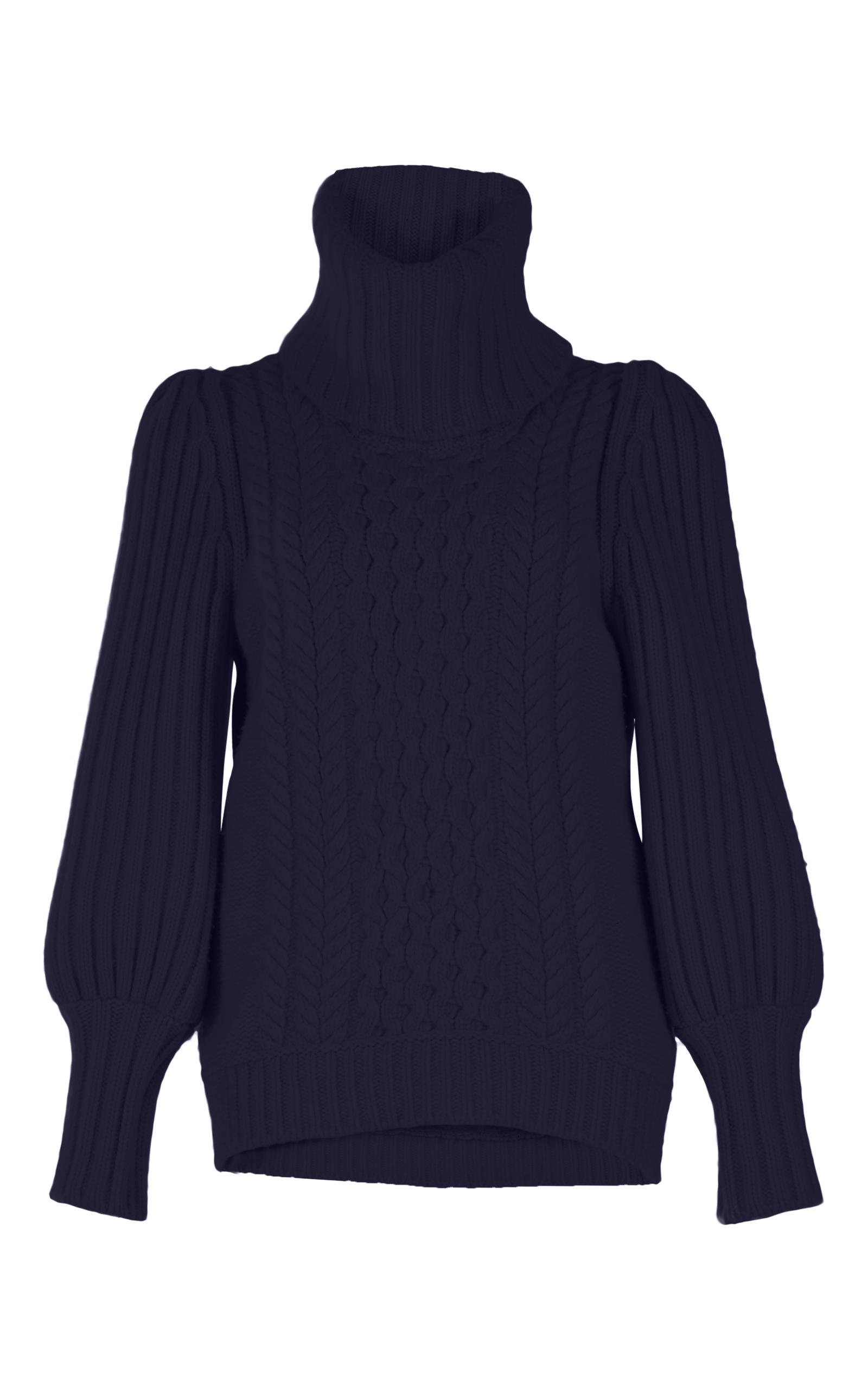 Temperley London Shade Cable-knit Sweater In Purple