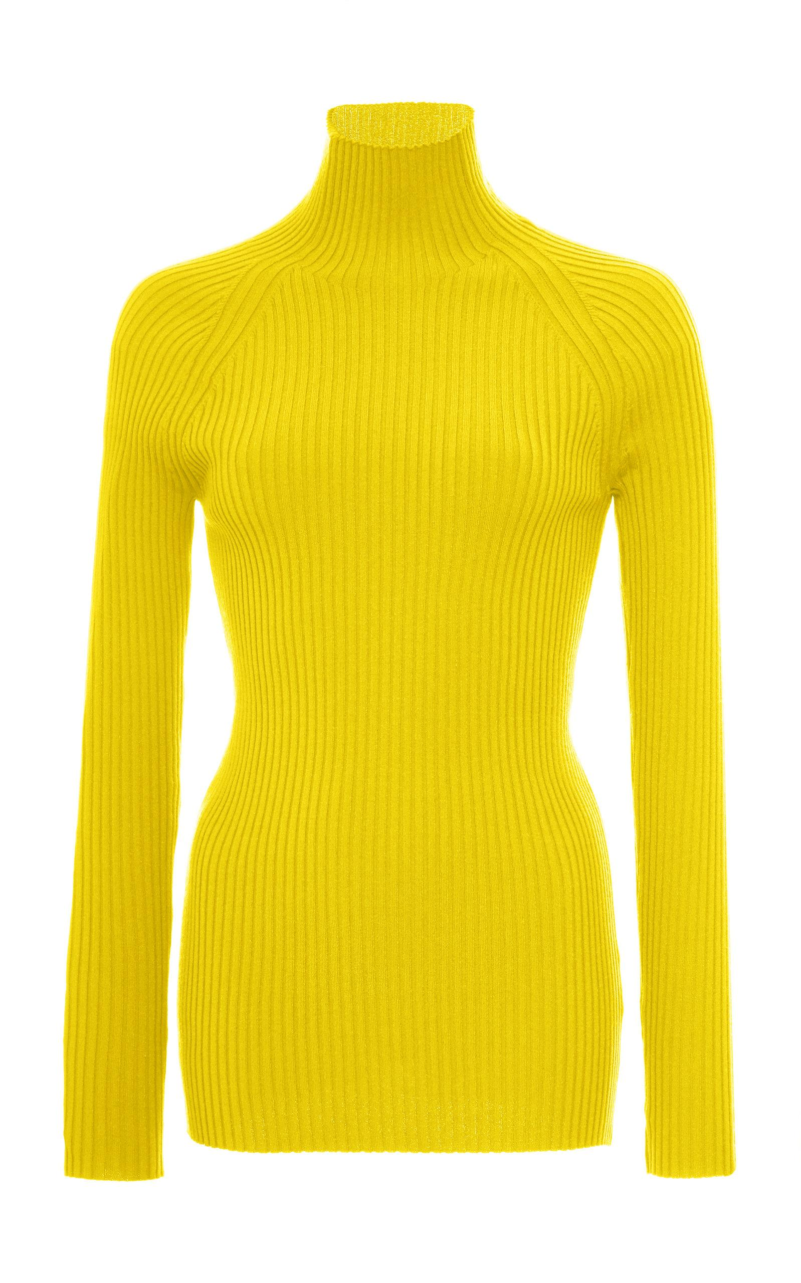 Pepa Pombo Euston Striped Turtleneck In Green