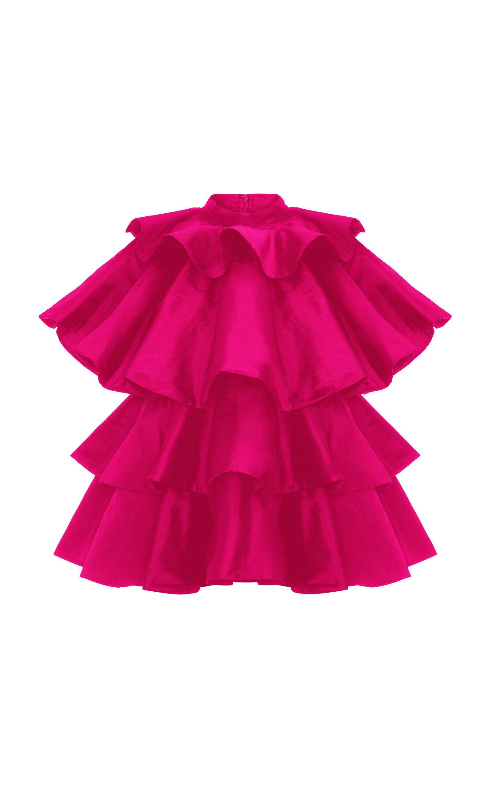 Khosla Jani Oversized Ruffle Top In Pink