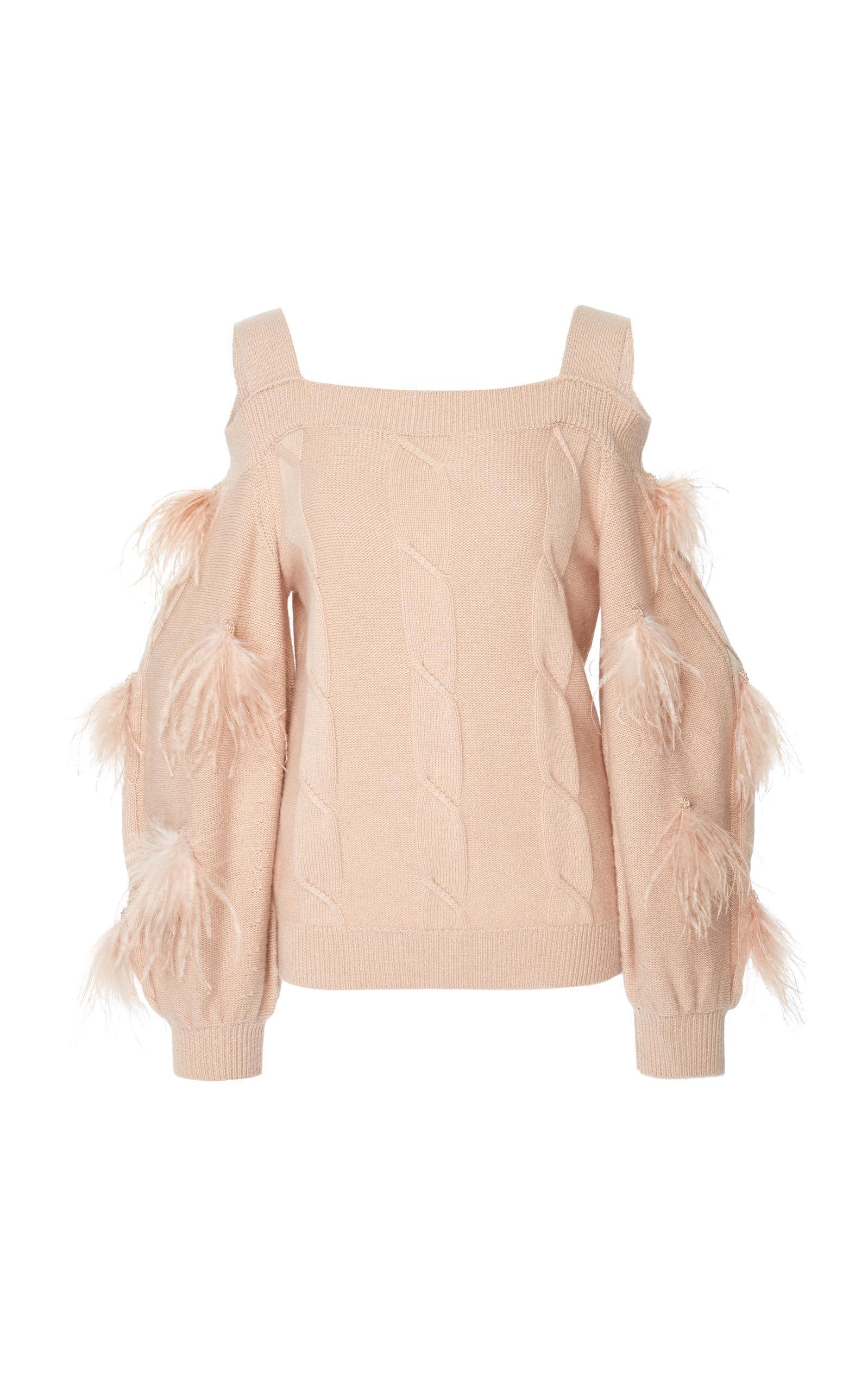 Adeam Ostrich Sweater In Pink