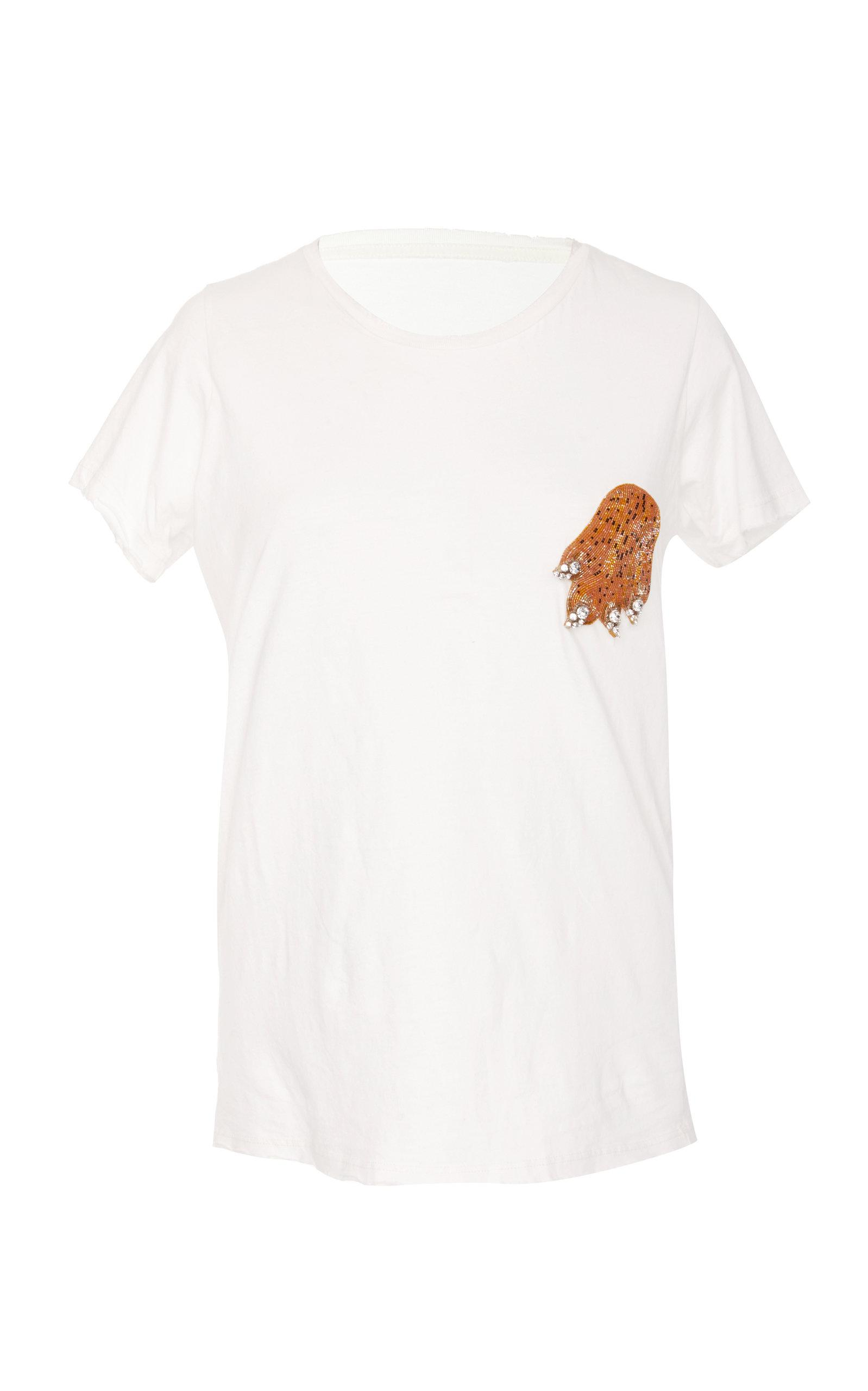 Rebecca De Ravenel Love All T-shirt In White