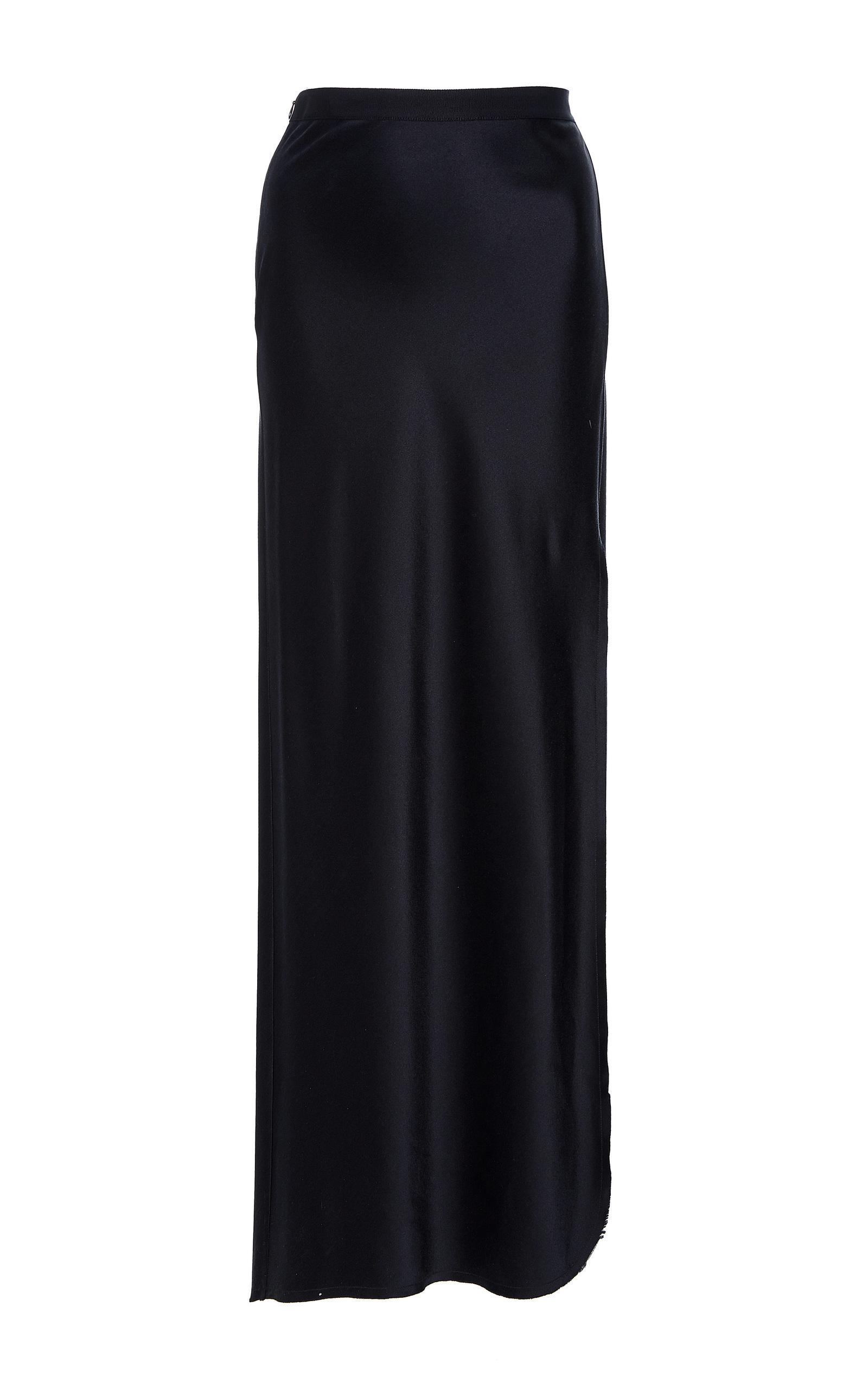 Nili Lotan Maya Silk Maxi Skirt In Navy