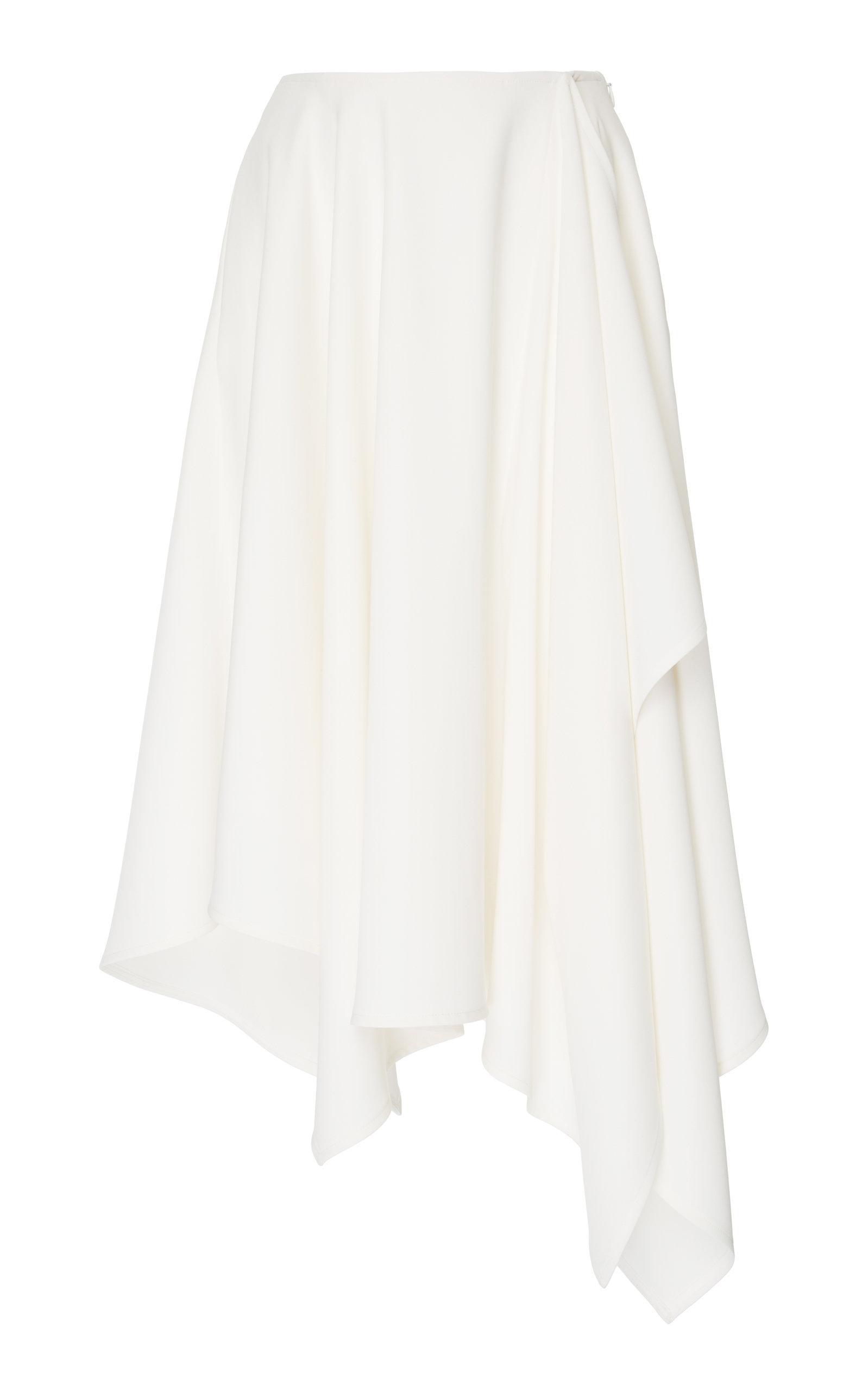 Adeam Handkerchief Skirt In White
