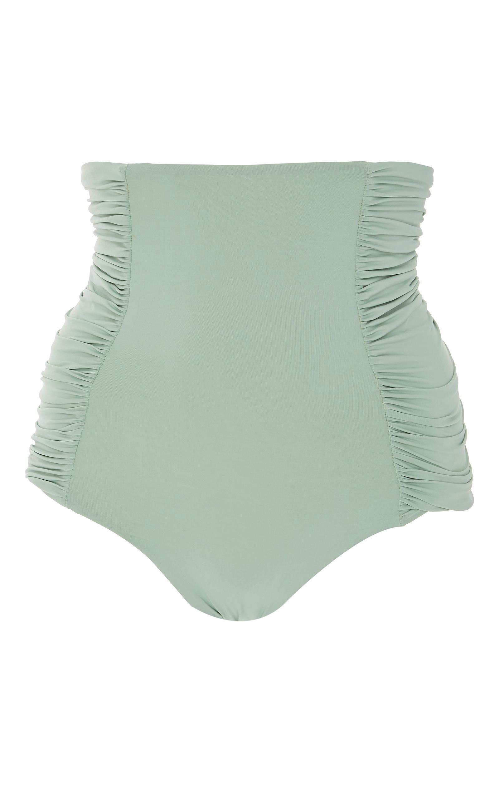 Johanna Ortiz M'o Exclusive Shelly High Rise Bikini Bottom In Green
