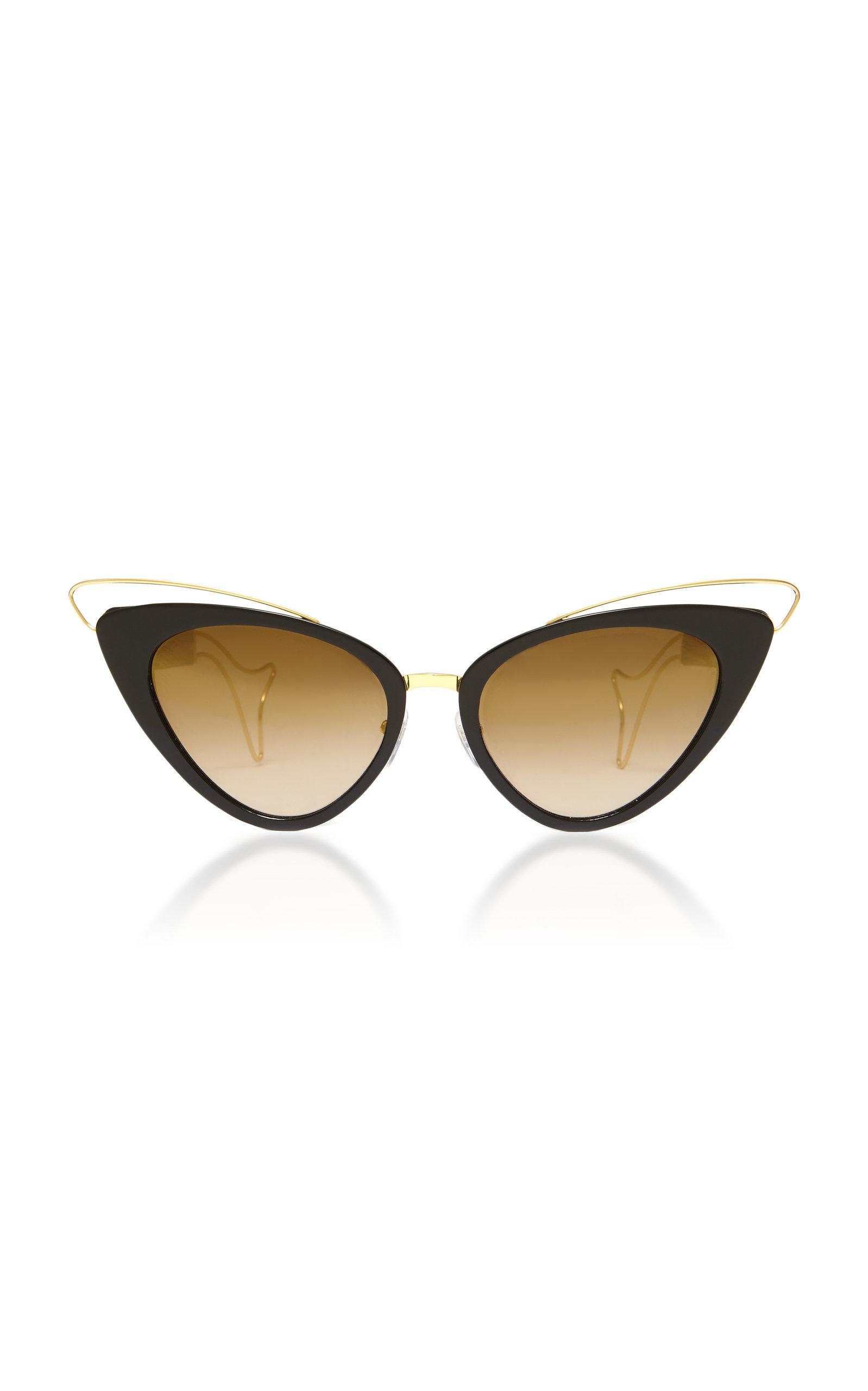 Philippe Chevallier Whale Cat Eye Sunglasses In Black