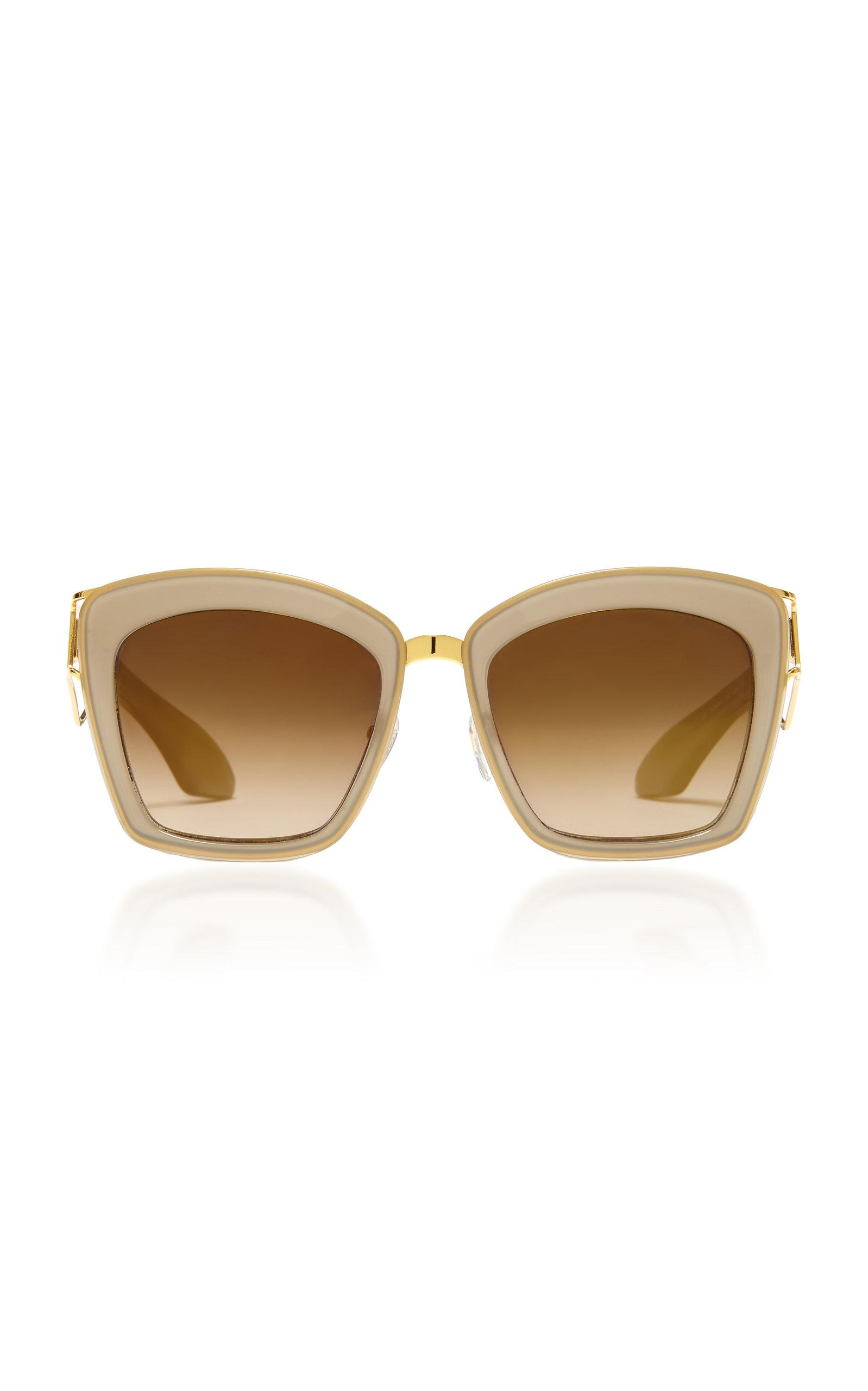 Philippe Chevallier Mask Square Frame Sunglasses In Green