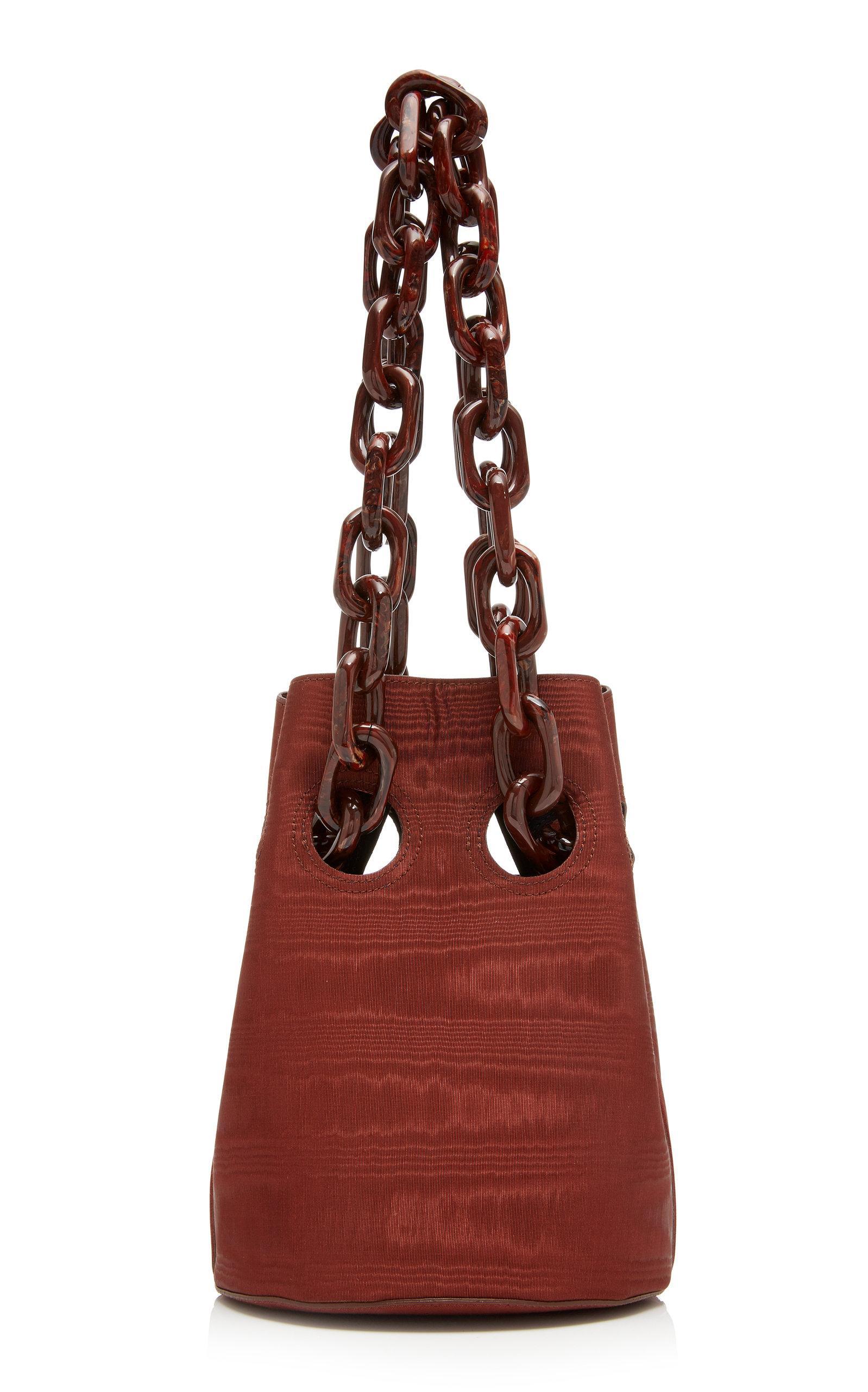 Trademark Goodall Bucket Bag With Resin Chain In Burgundy