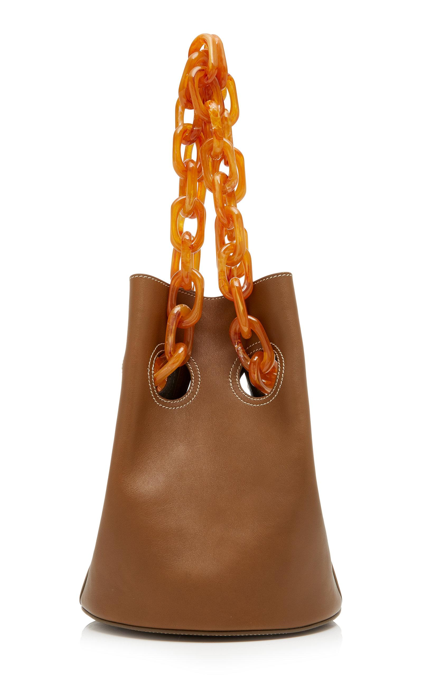 Trademark Goodall Bucket Bag With Resin Chain In Brown