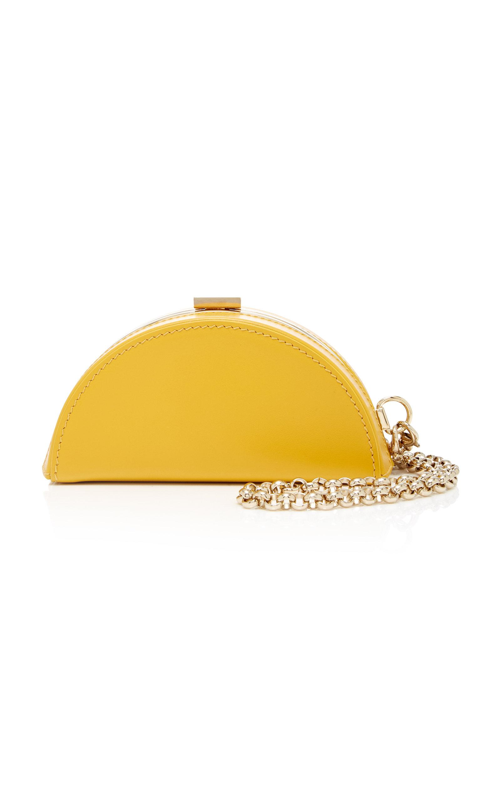 Adeam Half Moon Clutch Mini In Yellow