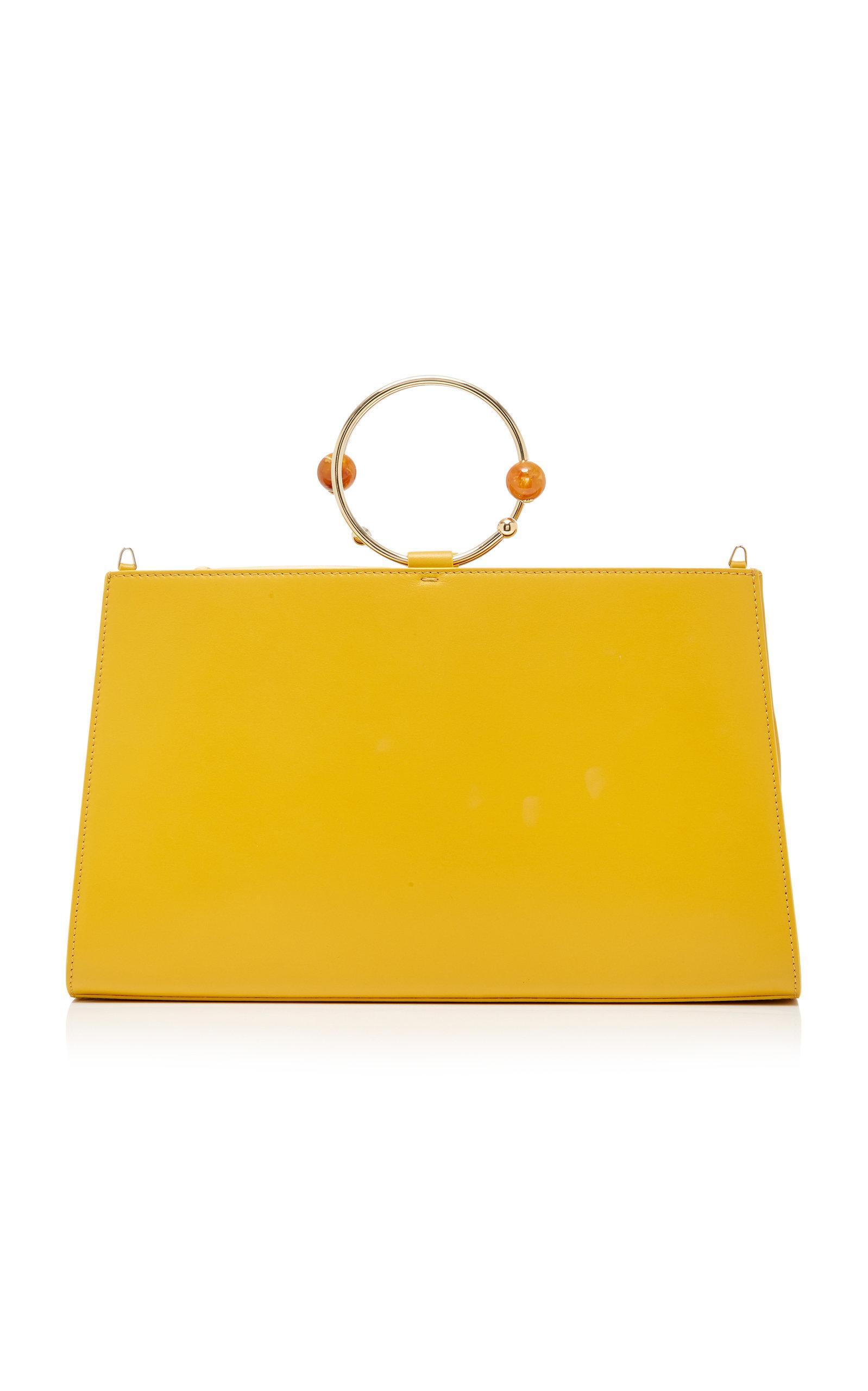 Adeam Art Frame Bag In Yellow