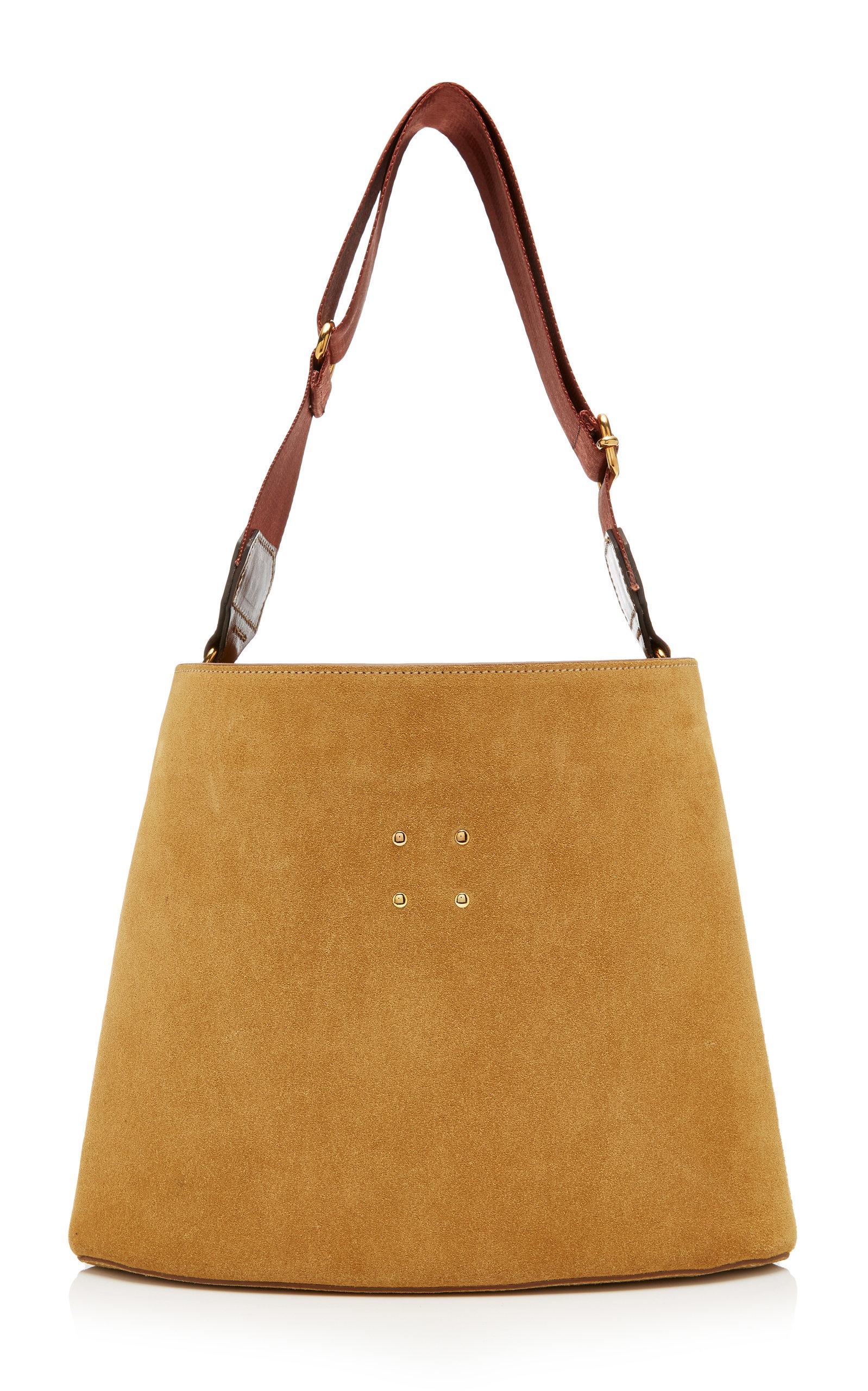 Trademark Suede Sybil Bag In Neutral